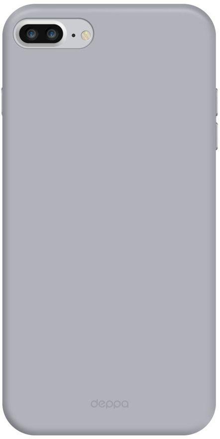 Deppa Air Case чехол для Apple iPhone 7 Plus, Silver83273Чехол Deppa Air Case для Apple iPhone 7 Plus - случай редкого сочетания яркости и чувства меры. Это стильная и элегантная деталь вашего образа, которая всегда обращает на себя внимание среди множества вещей. Благодаря покрытию soft touch чехол невероятно приятен на ощупь, поэтому смартфон не хочется выпускать из рук. Ультратонкий чехол (толщиной 1 мм) повторяет контуры самого девайса, при этом готов принимать на себя удары - последствия непрерывного ритма городской жизни.