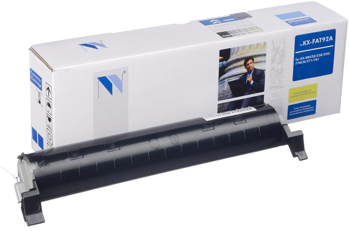 NV Print KX-FAT92A, Black тонер-картридж для Panasonic KX-MB263RU/283RU/783RU/763RU/773RUNV-KXFAT92AСовместимый лазерный картридж NV Print KX-FAT92A для печатающих устройств Panasonic - это альтернатива приобретению оригинальных расходных материалов. При этом качество печати остается высоким. Картридж обеспечивает повышенную чёткость чёрного текста и плавность переходов оттенков серого цвета и полутонов, позволяет отображать мельчайшие детали изображения. Лазерные принтеры, копировальные аппараты и МФУ являются более выгодными в печати, чем струйные устройства, так как лазерных картриджей хватает на значительно большее количество отпечатков, чем обычных. Для печати в данном случае используются не чернила, а тонер.