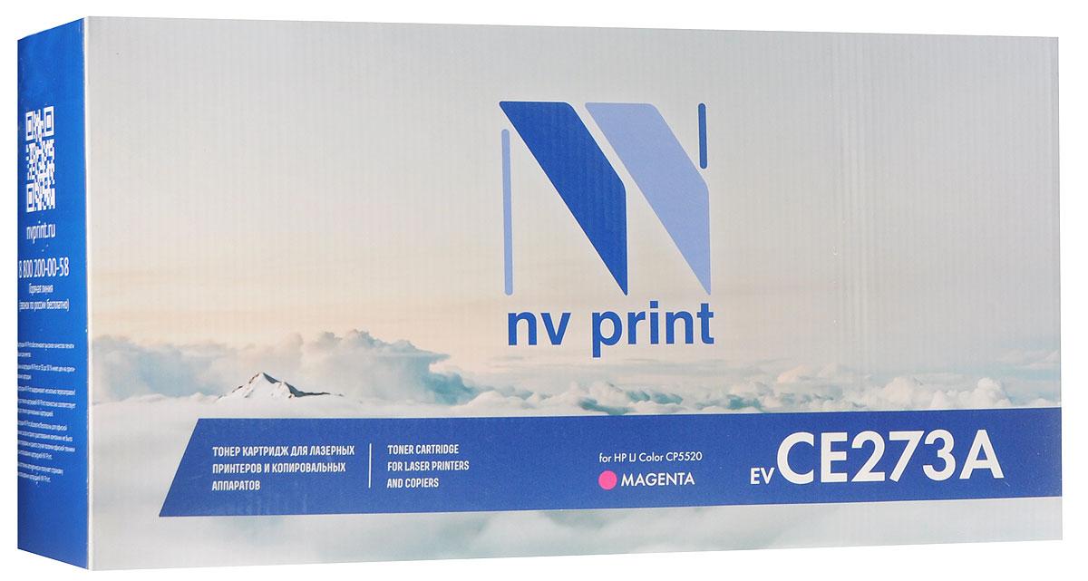 NV Print CE273AM, Magenta тонер-картридж для HP Color LaserJet CP5520NV-CE273AMСовместимый лазерный картридж NV Print CE273AM для печатающих устройств HP - это альтернатива приобретению оригинальных расходных материалов. При этом качество печати остается высоким. Картридж обеспечивает повышенную четкость изображения и плавность переходов оттенков и полутонов, позволяют отображать мельчайшие детали изображения. Лазерные принтеры, копировальные аппараты и МФУ являются более выгодными в печати, чем струйные устройства, так как лазерных картриджей хватает на значительно большее количество отпечатков, чем обычных. Для печати в данном случае используются не чернила, а тонер.