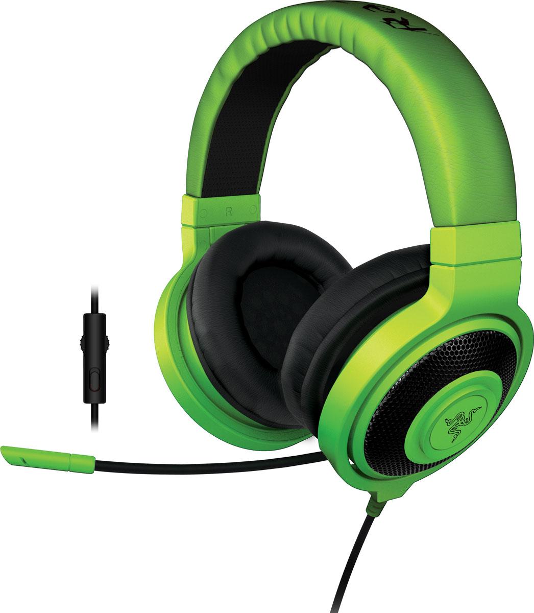 Razer Kraken Pro 2015, Green игровые наушникиRZ04-01380200-R3M1Идеальное сочетание веса, практичности и качества, Razer Kraken Pro 2015 без сомнений является самой удобной игровой гарнитурой. Помимо высокого удобства носки, Razer Kraken Pro 2015 обладает полностью выдвижным микрофоном, встроенным колесиком регулировки громкости и кнопкой отключения микрофона, что максимально облегчает ее использование. Благодаря высококачественным динамикам большого размера эта полноразмерная гарнитура обеспечивает захватывающий игровой звук в течение многих часов. Разделительный кабель для комбинированного разъема на 3,5 мм обеспечивает поддержку микрофона на мобильных устройствах, а также возможность полноценного подключения к вашим игровым устройствам. Поэтому где бы вы не находились, вам никогда не придется менять гарнитуры. Игровая гарнитура Razer Kraken Pro, как и Razer Electra, была протестирована профессиональными геймерами и спортсменами, чтобы мы могли подобрать оптимальный вес для долгих игровых...