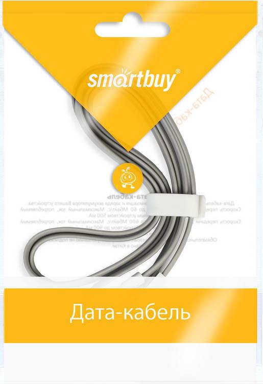 Smartbuy iK-512m, Grey дата-кабель USB-8-pin (1,2 м)iK-512m greyКабель Smartbuy iK-512m, для подключения устройств Apple к USB-порту компьютера или зарядки. Позволяет производить быструю зарядку электронного устройства и обеспечивает надежную синхронизацию с PC или Mac.