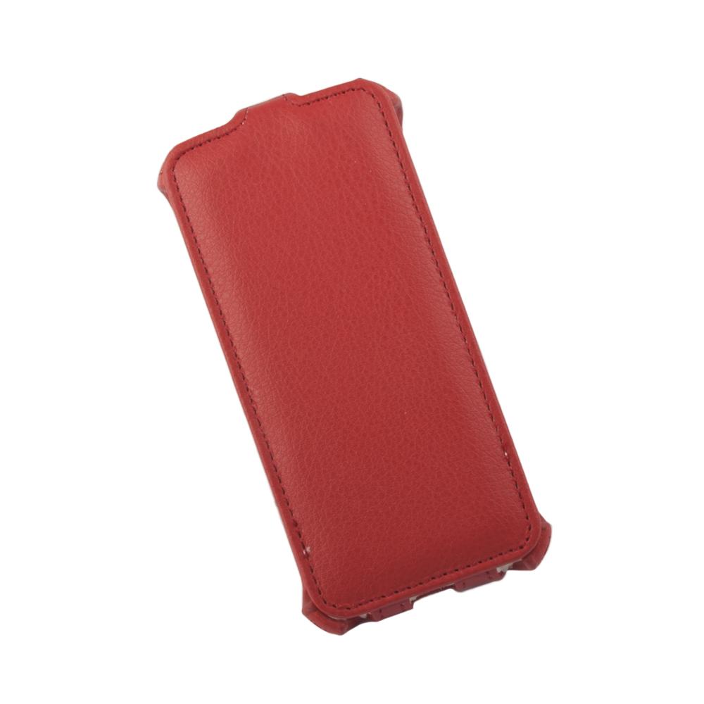 Liberty Project чехол-флип для Apple iPhone 5/5s, Red0L-00002589Флип-чехол Liberty Project для Apple iPhone 5/5s надежно защищает ваш смартфон от внешних воздействий, грязи, пыли, брызг. Он также поможет при ударах и падениях, не позволив образоваться на корпусе царапинам и потертостям. Чехол обеспечивает свободный доступ ко всем функциональным кнопкам смартфона и камере.