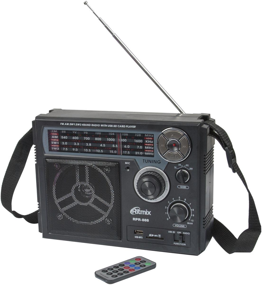 Ritmix RPR-888, Black радиоприемник