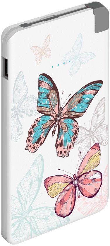 Deppa NRG Art Pastel Бабочки внешний аккумулятор (5000 мАч)