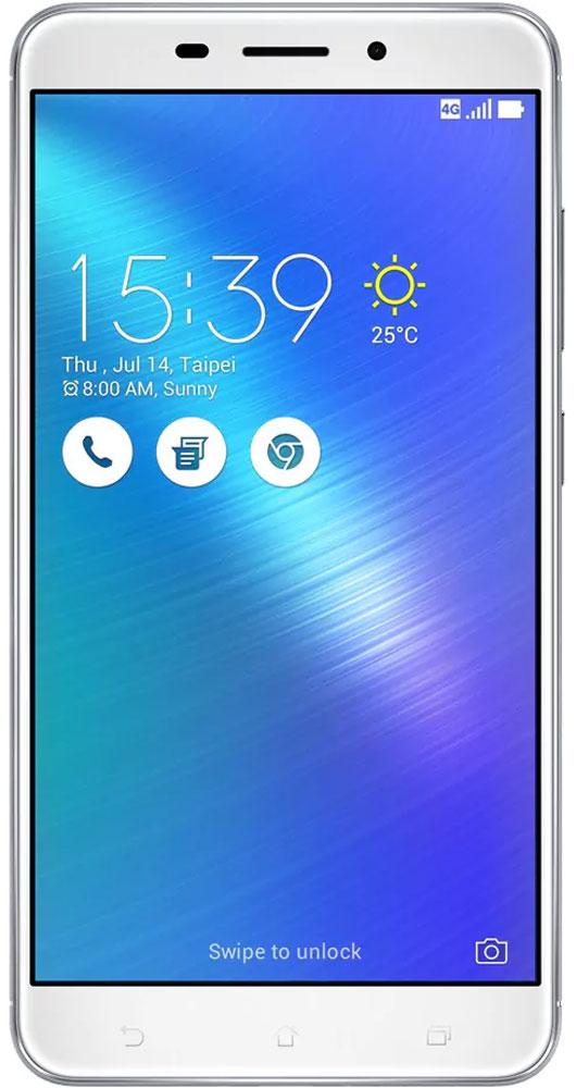 """ASUS ZenFone 3 Laser ZC551KL 32GB, Silver90AZ01B4-M00060Современная жизнь течет в постоянно ускоряющемся темпе, и чтобы успеть запечатлеть ее памятные моменты, вам нужен современный смартфон – такой как ZenFone 3 Laser, в чьем красивом металлическом корпусе скрывается система мгновенной лазерной автофокусировки, срабатывающей всего за 0,03 секунды.Технология PixelMaster 3.0 выводит фотовозможности ZenFone 3 Laser далеко за рамки доступного обычным смартфонам. Чтобы запечатлеть уникальную красоту окружающего мира в ее неповторимом великолепии, эта модель оснащается сенсором с разрешением 13 мегапикселей, светосильным объективом f/2,0 и высокоточной системой лазерной автофокусировки, срабатывающей всего за 0,03 с.Если добавить к этому эффективную систему электронной стабилизации изображения и датчик цветокоррекции, то можно не сомневаться: четкие снимки и видео с точными насыщенными цветами можно получить буквально одним касанием. PixelMaster 3.0 — настоящая революция в мобильной фотографии.ZenFone 3 Laser оснащается 8-мегапиксельной фронтальной камерой, причем функция улучшения портрета позволяет автоматически украсить селфи-снимки в режиме реального времени: убрать дефекты кожи, подкорректировать черты лица и т.д.ZenFone 3 Laser отражает в себе высочайшее мастерство изготовления и безупречный вкус. Металлический корпус с тщательно отполированной поверхностью, продуманная эргономика, два премиальных цвета (серебристый и золотой) – это шедевр современного дизайна и инновационных технологий, который не захочется выпускать из рук.Смартфон оснащается превосходным дисплеем с диагональю 5,5"""", разрешением Full-HD (1920х1080 пикселей) и яркостью 500 кд/м2, что обеспечивает качественное изображение даже в самый солнечный день. Экран покрыт прочным защитным стеклом со скругленными кромками. Благодаря сверхтонкой рамке (2,58 мм) и большой площади (более 77% от размера передней панели) он ничуть не влияет на компактность.Расположенный на задней панели сканер отпечатка пальца слу"""