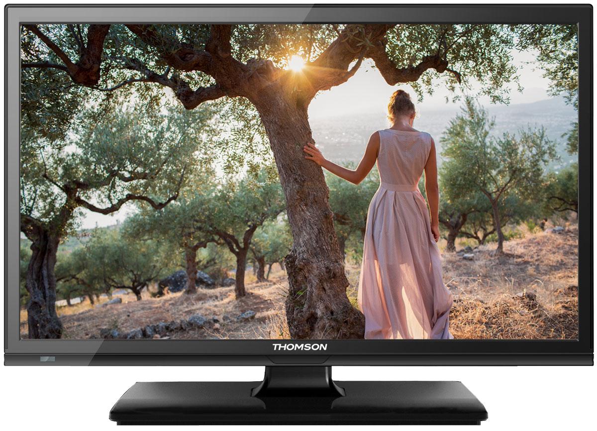 Thomson T24E20DH-01B телевизорThomson T24E20DH-01BТелевизор Thomson T24E20DH-01B - идеальный выбор для тех, кто ищет стильный и компактный ЖК-телевизор с качественным экраном, обладающий востребованными функциями. Дисплей выполнен с применением технологии подсветки LED, что улучшает качество картинки и повышает энергоэффективность. Телевизор способен принимать сигнал цифрового телевидения DVB-T2 без дополнительного тюнера. Еще одно существенное преимущество модели - возможность воспроизведения файлов с USB-накопителя. Это позволяет просматривать видео с внешнего носителя без использования видеоплеера. HDMI-порт позволяет подключать современные устройства, поддерживающие разрешение высокой четкости. Thomson T24E20DH-01B обладает рядом функций, позволяющих добиться наилучшего качества картинки и звука. В их числе шумоподавление. Кроме того, телевизор оснащен удобной функцией TimeShift, благодаря которой при условии подключения к ТВ USB-накопителя, телевизионные трансляции можно ставить на паузу. ...
