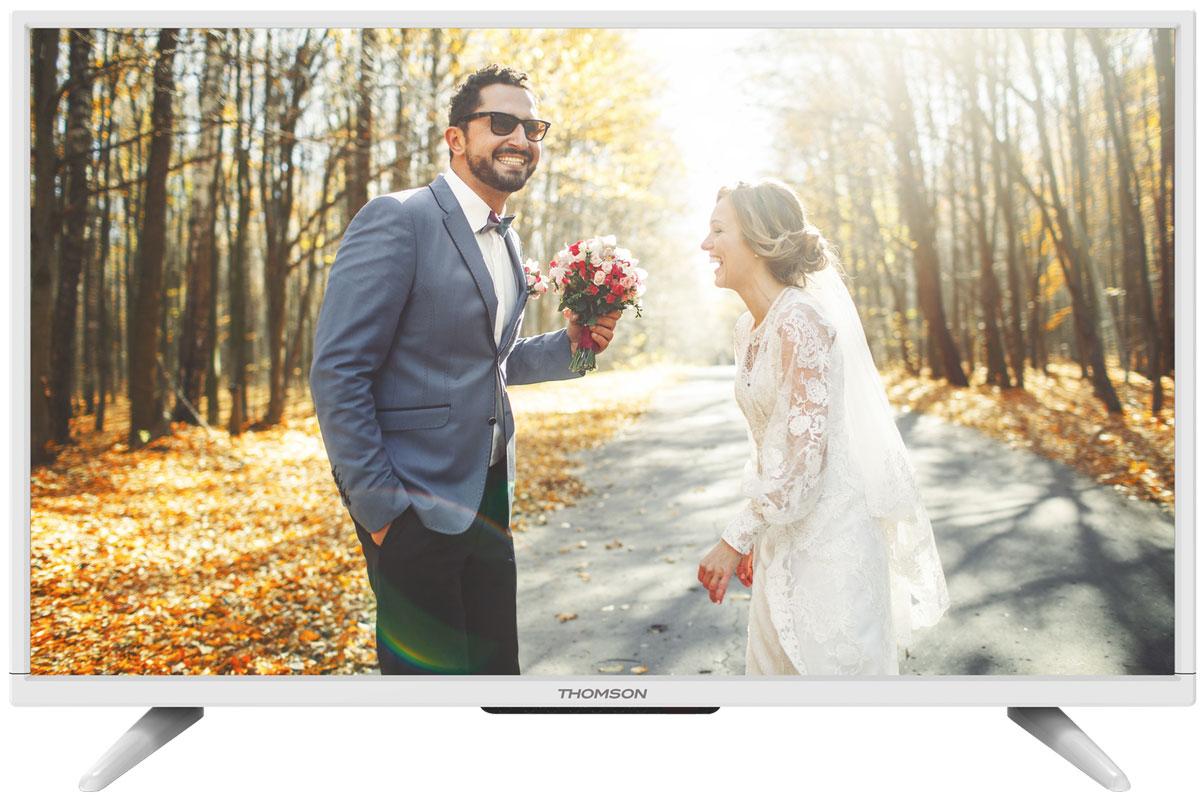 Thomson T40D16SF-01W телевизорThomson T40D16SF-01WThomson T40D16SF-01W - идеальный выбор для тех, кто ищет стильный ЖК-телевизор с ярким качественным экраном, обладающий востребованными функциями. Дисплей выполнен с применением технологии D-LED, что улучшает качество картинки и повышает энергоэффективность. Телевизор способен принимать сигнал цифрового телевидения DVB-T2 без дополнительного тюнера. Еще одно существенное преимущество модели - возможность воспроизведения файлов с USB-накопителей, благодаря которым можно просматривать видео с внешних носителей без использования видео-плеера. Имеются 3 HDMI-входа, благодаря которым к телевизору могут подключаться современные устройства, поддерживающие разрешение высокой четкости. Thomson T40D16SF-01W обладает рядом функций, позволяющих добиться наилучшего качества картинки и звука. В их числе шумоподавление и динамический контраст. Кроме того, телевизор оснащен удобной функцией TimeShift, благодаря которой при условии подключения к ТВ...