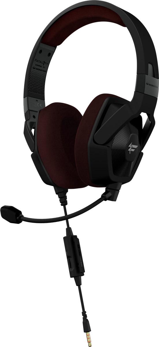 Monster Fatal1ty FXM 100, Black игровая гарнитура137048-00Игровая гарнитура Monster Fatal1ty является продуктов совместной разработки бренда Monster и всемирно известного киберспортсмена Джонатана «Fatal1ty» Вендела. Сотрудничество самого успешного в мире геймера и бренда Monster, являющегося одним из главных экспертов в области создания идеального персонального аудио и уникальных технологий воспроизведения звука, позволило создать продукт, отвечающий всем потребностям профессиональных геймеров. В гарнитуре используется эксклюзивная технология fHex720 Sound Chamber Technology, а также специально адаптированная под игровую гарнитуру уникальная технология звука Pure Monster Sound. Идеально сочетающиеся с шумоизолирующими амбушюрами, специально разработанные динамики позволяют вам услышать все оттенки звука в мельчайших деталях. Используя игровую гарнитуру Monster Fatal1ty, вы сможете максимально точно ориентироваться в пространстве, получая преимущество перед соперниками и возможность прочувствовать игру как никогда...