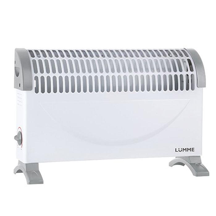 Lumme LU-604, White Grey конвекционный обогревательLU-604Lumme LU-604 - электрический конвекционный обогреватель (конвектор) с регулируемым термостатом подходит для обогрева любых бытовых помещений.Прибор полностью безопасен в использовании, так как оснащен системой защиты от перегрева и во время своей работы не сжигает кислород в воздухе.Конвектор не занимает много места и при этом позволяет легко установить оптимальный микроклимат в любом помещении.