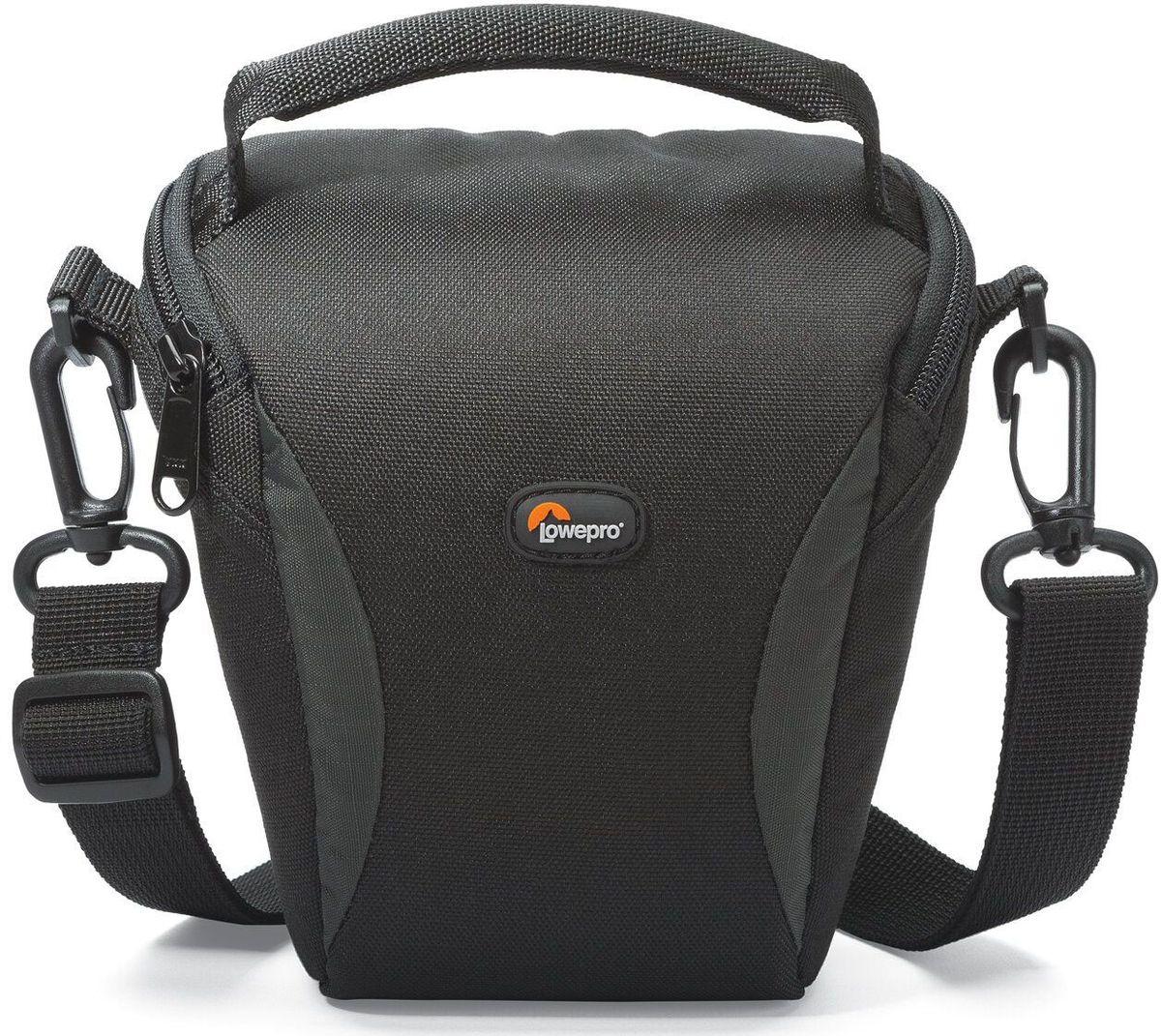Lowepro Format TLZ 10, Black сумка для фотокамерыLP36620-0RUЛегкие современные сумки серии Format отлично подойдут для фотографов, которым нужна стильная, компактная и надежная защита своего оборудования. Прочный материал, стойкий к любым атмосферным условиям, обеспечит долгий срок службы сумки и надежную защиту камеры.