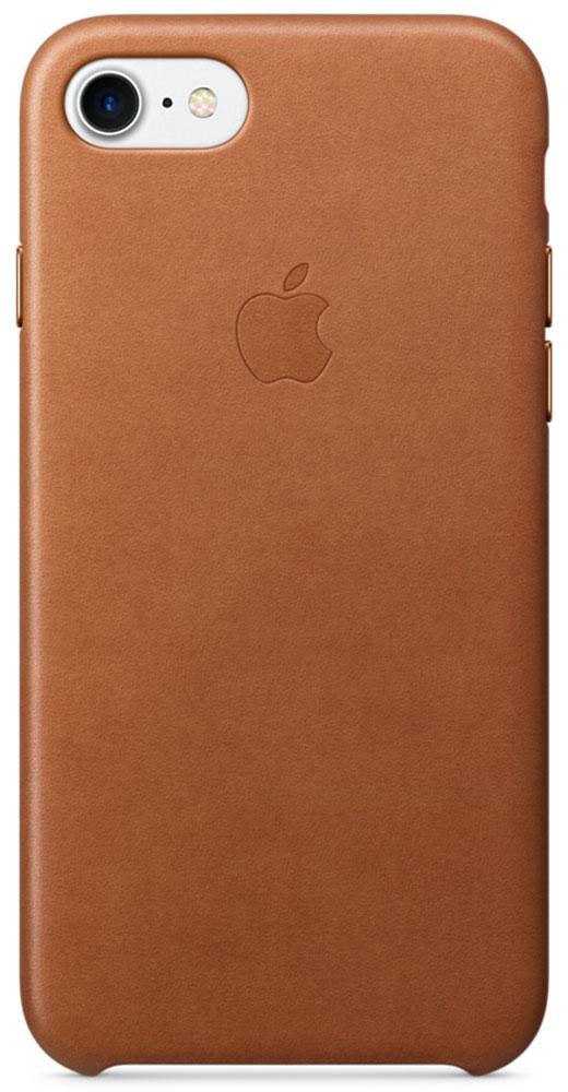 Apple Leather Case чехол для iPhone 7, Saddle BrownMMY22ZM/AЧехлы, созданные Apple, точно повторяют контуры iPhone, не делая его громоздким. Apple Leather Case изготовлен из мягкой кожи европейского производства, которая со временем покрывается благородной патиной. Мягкая внутренняя поверхность, выполненная из микроволокна, защищает корпус вашего iPhone. А кнопки из обработанного алюминия идеально подходят по цвету к чехлу.
