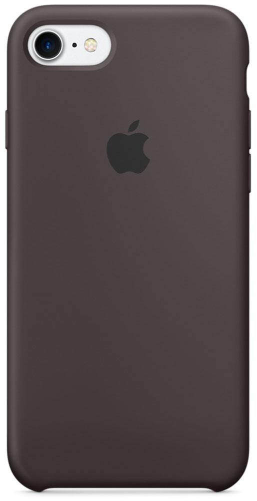 Apple Silicone Case чехол для iPhone 7, CocoaMMX22ZM/AApple Silicone Case плотно прилегает к кнопкам громкости и режима сна, точно повторяет контуры телефона, но при этом не делает его громоздким. Мягкая подкладка из микроволокна защищает корпус iPhone. А его внешняя силиконовая поверхность очень приятна на ощупь.