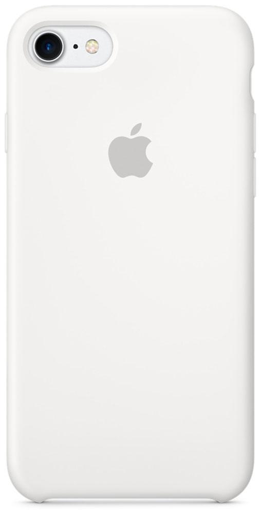 Apple Silicone Case чехол для iPhone 7, WhiteMMWF2ZM/AApple Silicone Case плотно прилегает к кнопкам громкости и режима сна, точно повторяет контуры телефона, но при этом не делает его громоздким. Мягкая подкладка из микроволокна защищает корпус iPhone. А его внешняя силиконовая поверхность очень приятна на ощупь.