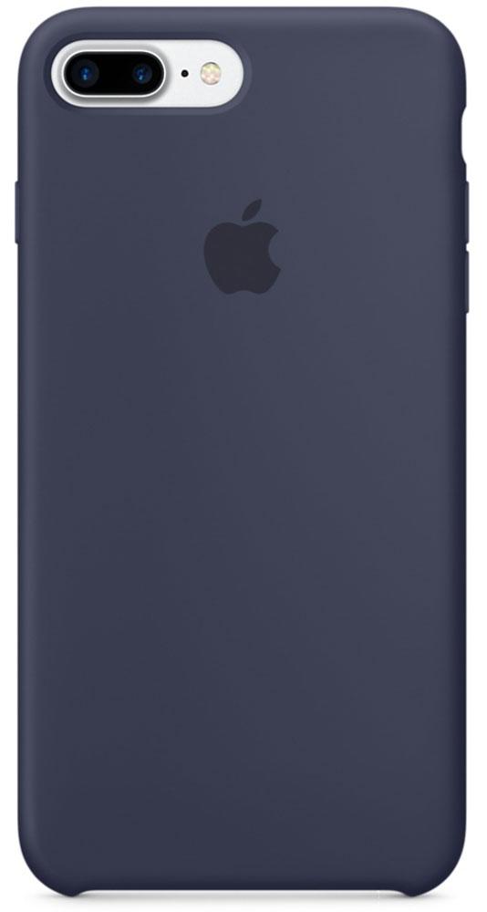 Apple Silicone Case чехол для iPhone 7 Plus, Midnight BlueMMQU2ZM/AApple Silicone Case плотно прилегает к кнопкам громкости и режима сна, точно повторяет контуры телефона, но при этом не делает его громоздким. Мягкая подкладка из микроволокна защищает корпус iPhone. А его внешняя силиконовая поверхность очень приятна на ощупь.