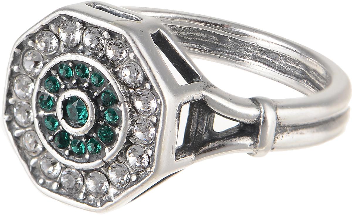 Кольцо Jenavi Изумрудные мечты. Амсто, цвет: серебряный, зеленый. h8003030. Размер 17Коктейльное кольцоЭлегантное кольцо Jenavi Изумрудные мечты. Амсто изготовлено из гипоаллергенного ювелирного сплава. Декоративная часть оформлена кристаллами Swarovski. Такое стильное кольцо идеально дополнит ваш образ и подчеркнет вашу индивидуальность.