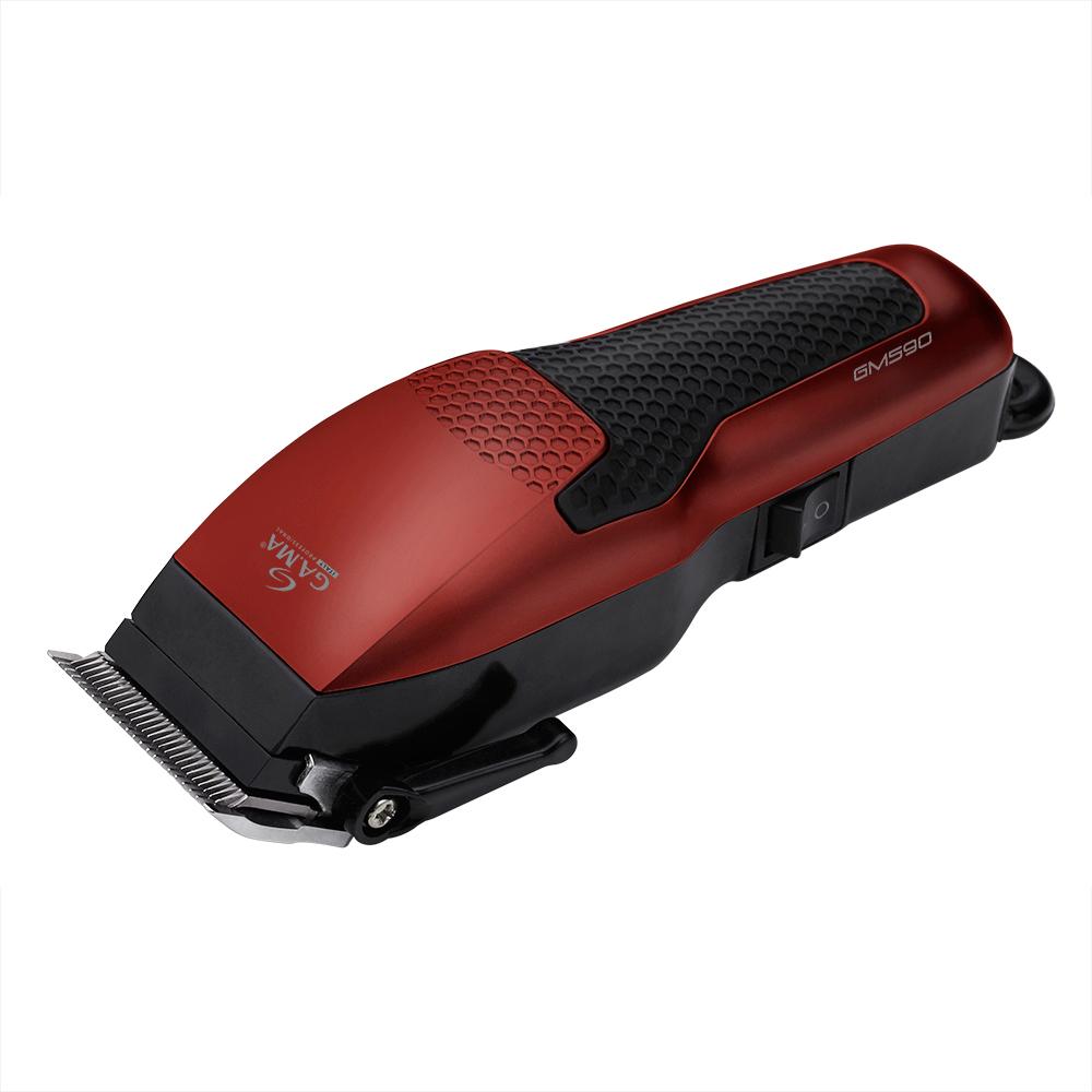 GA.MA T21.GM590, Red Black машинка для стрижкиT21.GM590Магнитный мотор и лезвия из нержавеющей стали делают машинку для стрижки GA.MA T21.GM590 превосходной по производительности и режущей силе. Машинка имеет переключатель On – Off, надежный шнур и переключатель настроек длины стрижки - идеальный набор характеристик для любых стрижек.