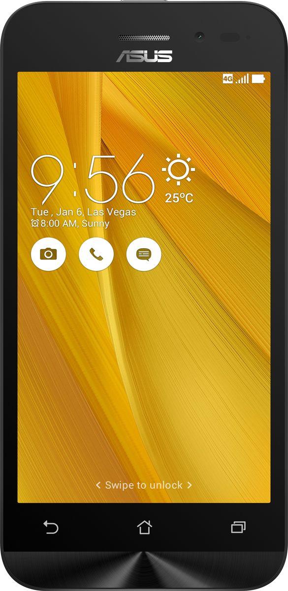 ASUS ZenFone Go ZB450KL, Yellow (90AX0094-M00390)90AX0094-M00390Asus ZenFone Go ZB450KL - стильный современный смартфон с множеством вариантов цветов корпуса. Современный процессор Qualcomm Snapdragon обеспечивает высокую производительность ZenFone Go в многозадачном режиме. ZenFone Go выполнен в эргономичном корпусе, который удобно ложится в ладонь. Оригинальным и весьма удобным решением в его дизайне является расположенная на задней панели корпуса кнопка, с помощью которой можно делать фотоснимки, изменять громкость звука и т.д. Подчеркните свою индивидуальность, выбрав ZenFone Go своего любимого цвета из нескольких доступных вариантов. А затем установите соответствующую визуальную тему пользовательского интерфейса ASUS ZenUI. Для съемки ярких фотографий данный смартфон оснащается тыловой камерой с высоким разрешением. Ловите красивые моменты жизни вместе с ZenFone Go! ZenFone Go оснащается двумя слотами для SIM-карт, что позволяет использовать одновременно два телефонных номера, например...