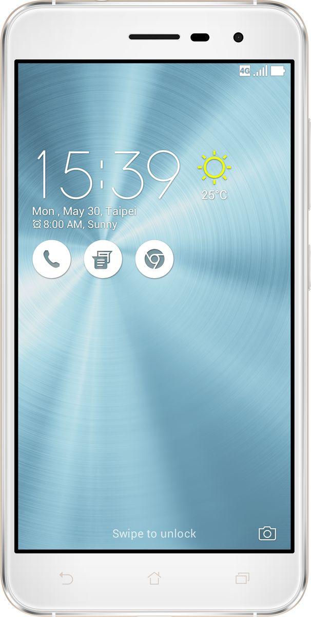 ASUS ZenFone 3 ZE520KL, Moonlight White (90AZ0172-M00590)90AZ0172-M00590Asus ZenFone 3 - это современный смартфон с оригинальным дизайном и высококачественной камерой, который станет вашу жизнь чуть более необычной. Современный смартфон, отделанный с обеих сторон защитным стеклом безупречно выверенной формы. Тонкий корпус, который идеально ложится в ладонь. Оригинальный узор из концентрических окружностей, украшающий заднюю панель и выгравированный на кнопках, как отражение философской гармонии Дзен. Вы хотите получить совершенно новые впечатления от своего нового смартфона? Просто взгляните и прикоснитесь к ZenFone 3. ZenFone 3 - это синоним тонкой работы. Заключенный в корпус из высокопрочного стекла Corning Gorilla Glass со скругленными кромками, данный смартфон имеет толщину всего 7,69 мм. Красоту его изысканного дизайна подчеркивают акценты на боковых гранях, выполненные методом алмазной резки. Это шедевр современного инженерного искусства, которым вы никогда не устанете наслаждаться. ZenFone 3...