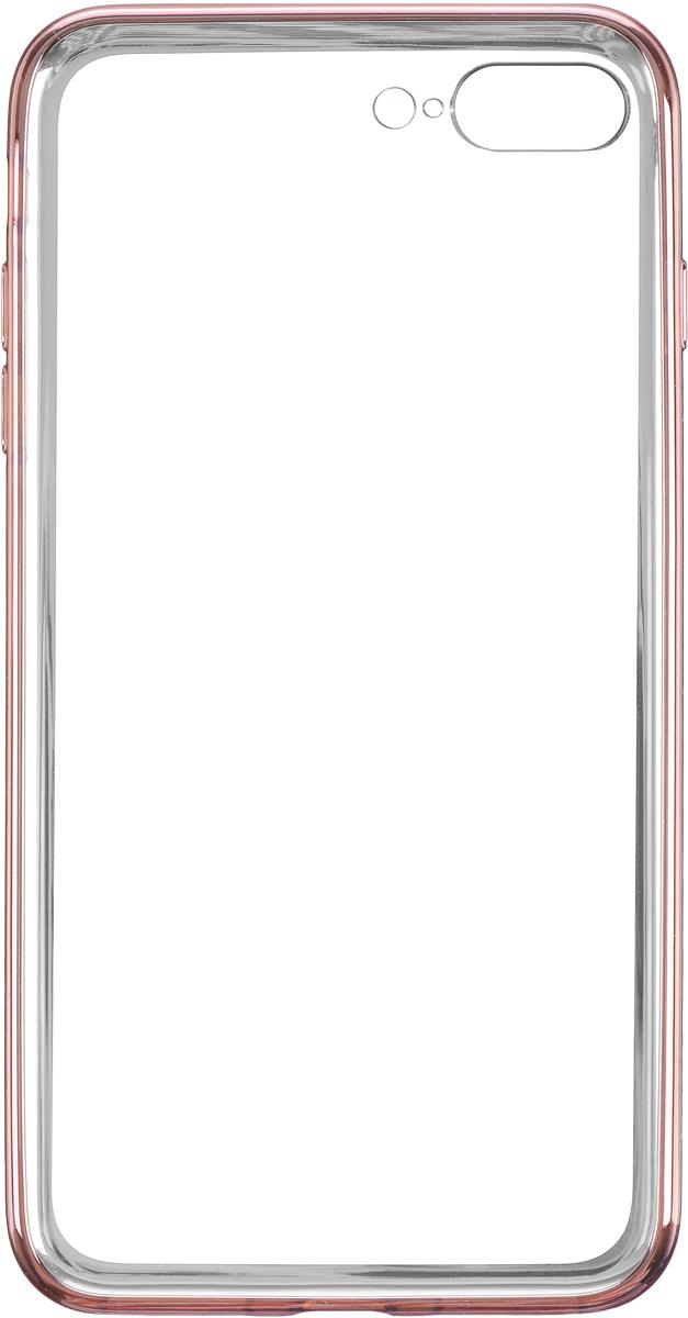 Deppa Gel Plus Case чехол для Apple iPhone 7 Plus, Pink Gold85262Чехол Deppa Gel Plus Case для Apple iPhone 7 Plus предназначен для защиты корпуса смартфона от механических повреждений и царапин в процессе эксплуатации. Плотный высокотехнологичный TPU (силикон) производства Bayer в разы повышает защитные функции чехла. Кейс эластичен, устойчив к изломам, не запотевает и не желтеет даже при длительной эксплуатации. Кейс надежно защищает iPhone со всех сторон и имеет все необходимые, тщательно выверенные отверстия для доступа к функциональным портам, разъемам и кнопкам смартфона. Вы можете легко зарядить устройство, не снимая чехол. Специально разработанный кейс для iPhone выполнен с применением особой технологии Electroplating: специальное гальванопокрытие и стильная рамка с эффектом металла придают особый шик вашему устройству.