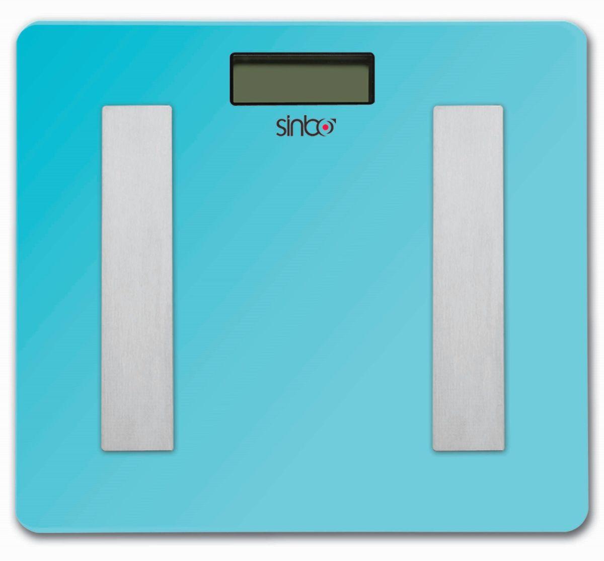 Sinbo SBS 4439, голубой весы напольныеSBS 4439Напольные электронные весы Sinbo SBS 4439 с ЖК-дисплеем и стеклянной платформой. Удобны для ежедневного контроля веса. Обладают высокой точностью измерения. Имеют устойчивую и особо прочную стеклянную платформу, что позволяет выдерживать большую нагрузку.