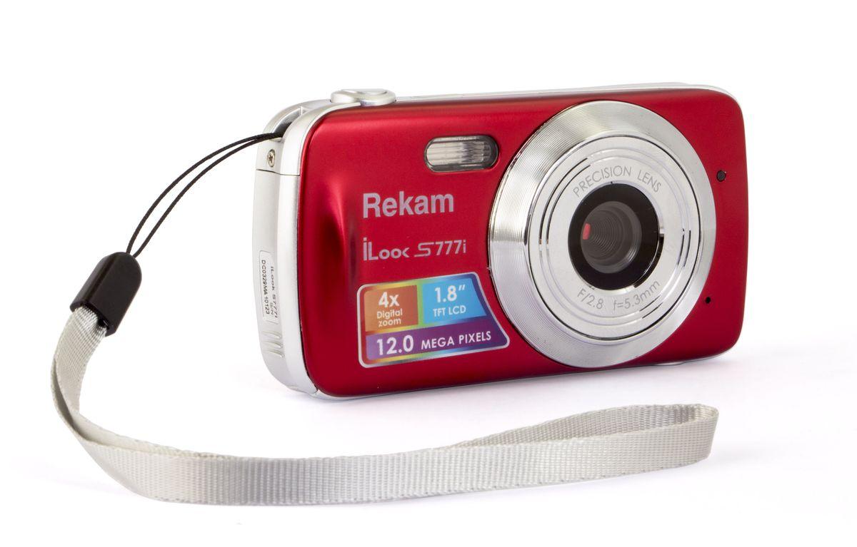 Rekam iLook S777i, Red цифровая фотокамера1108005124Rekam iLook S777i - легкая и компактная камера, с плавными формами корпуса, которая легко умещается в карман или небольшую сумку. Благодаря разрешению 12 мегапикселей и 4-х кратному цифровому увеличению вы сможете в любой момент получить яркие и четкие фотографии. Автоматический режим позволяет делать отличные фотографии при любых условиях съёмки. А благодаря специальным настройкам для солнечной, пасмурной погоды и съёмки при искусственном освещении, вы сможете почувствовать себя настоящим мастером фотосъёмки. Кроме фотосъёмки, на камеру можно снимать видеоролики со звуком в разрешении HD. Данная модель поддерживает карты памяти до 32 ГБ, что даёт возможность не заботится об экономии места.