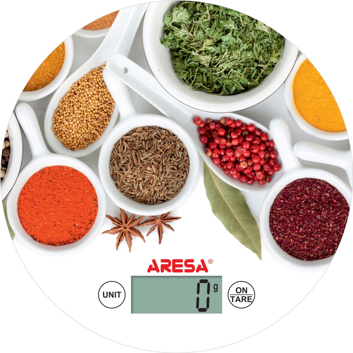 Aresa SK-415 кухонные весыSK-415_белый, специиКухонные электронные весы Aresa SK-415 на двухпозиционном тензоэлектрическом датчике - незаменимые помощники современной хозяйки. Они помогут точно взвесить любые продукты и ингредиенты. Кроме того, позволят людям, соблюдающим диету, контролировать количество съедаемой пищи и размеры порций. Предназначены для взвешивания продуктов с точностью измерения 1 грамм. Минимальная нагрузка: 5 г