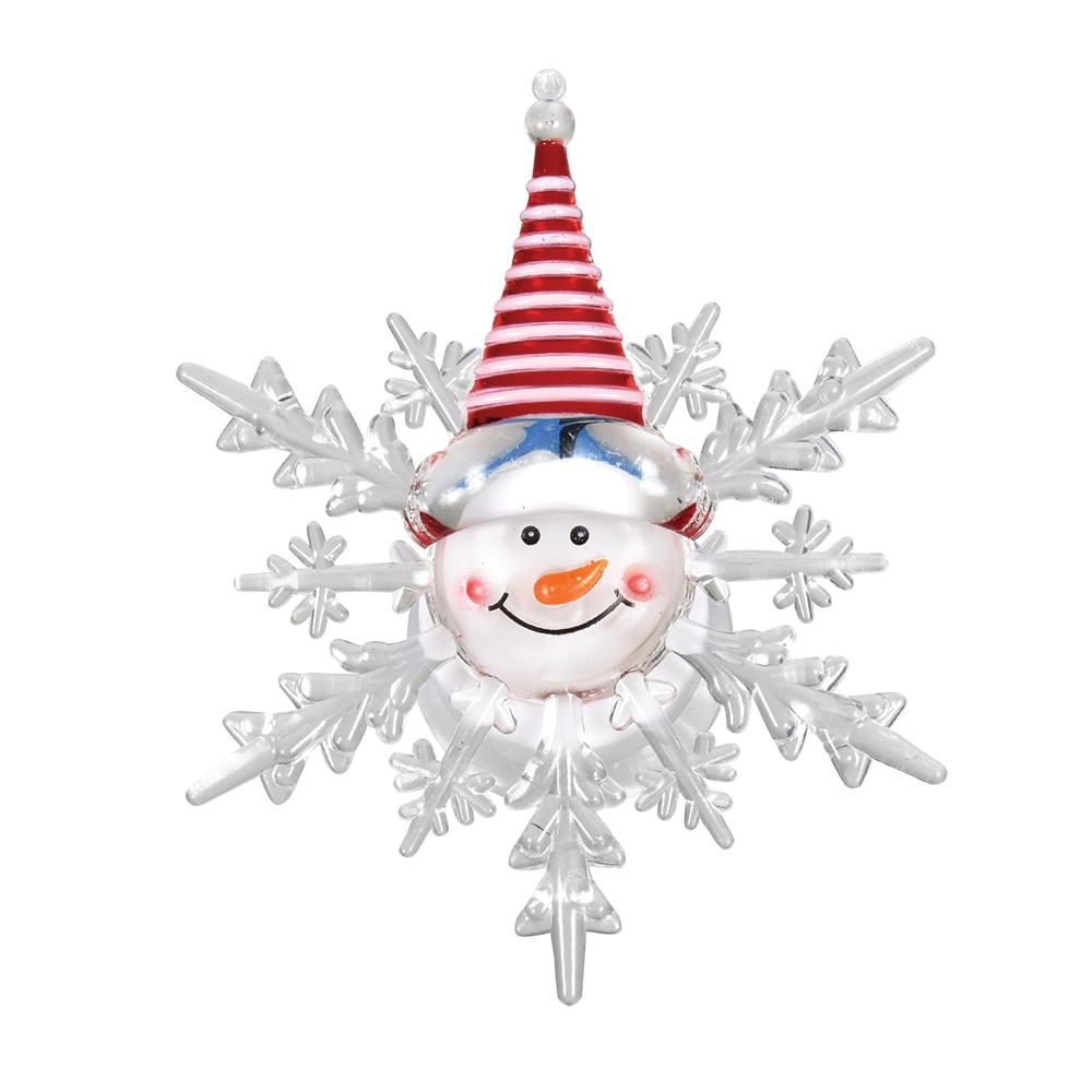 Фигура светодиодная Vegas Снеговик, на присоске, 10 х 12 см, свет: мультиколор. 5505455054Светодиодные фигурки VEGAS Фигурка Снеговик светодиодная на присоске 10*12 см, меняет цвет, с батарейкой /48