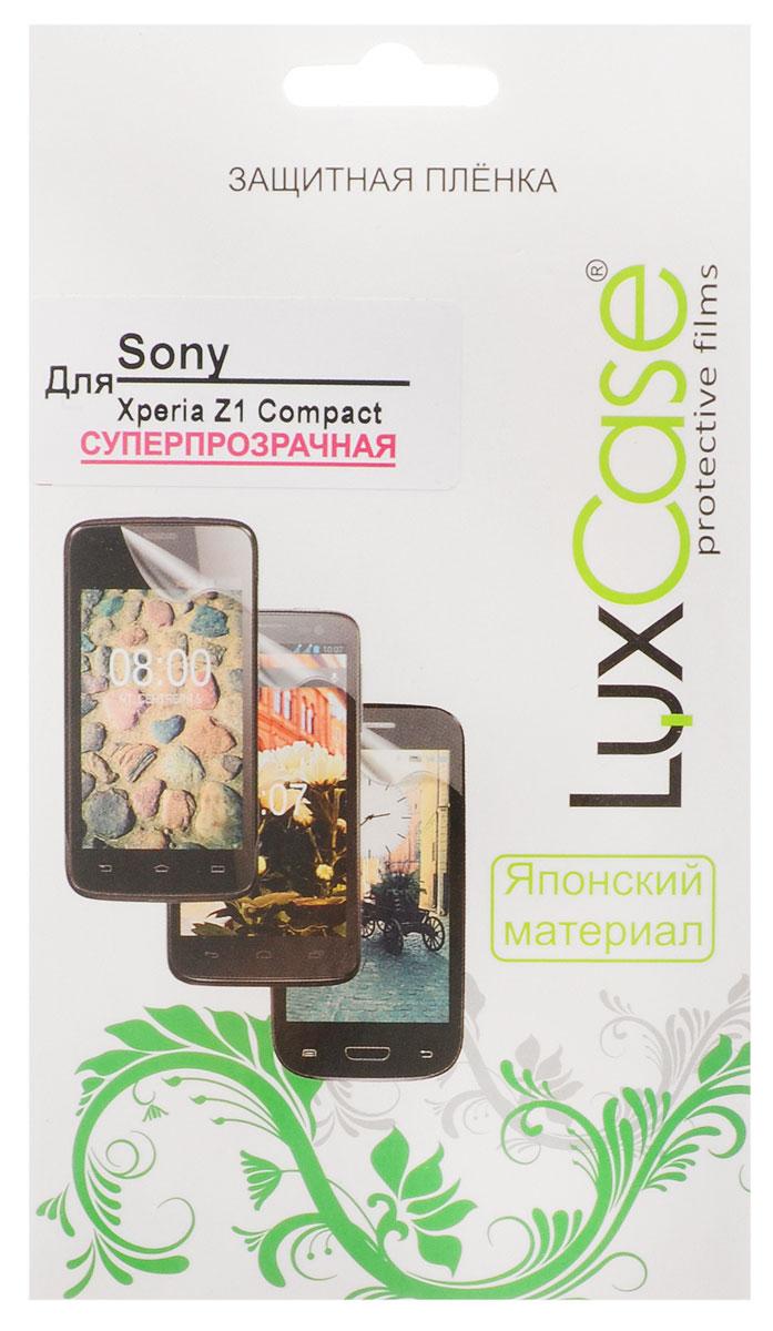 Luxcase защитная пленка для Sony Xperia Z1 Compact, суперпрозрачная80946Защитная пленка для Sony Xperia Z1 Compact (антибликовая или суперпрозрачная) имеет два защитных слоя, которые снимаются во время наклеивания. Данная защитная пленка подходит как для резистивных, так и для емкостных экранов, не снижает чувствительности на нажатие. На защитной пленке есть все технологические отверстия под камеру, кнопки и вырезы под особенности экрана. Благодаря использованию высококачественного японского материала пленка легко наклеивается, плотно прилегает, имеет высокую прозрачность и устойчивость к механическим воздействиям. Потребительские свойства и эргономика сенсорного экрана при этом не ухудшаются.