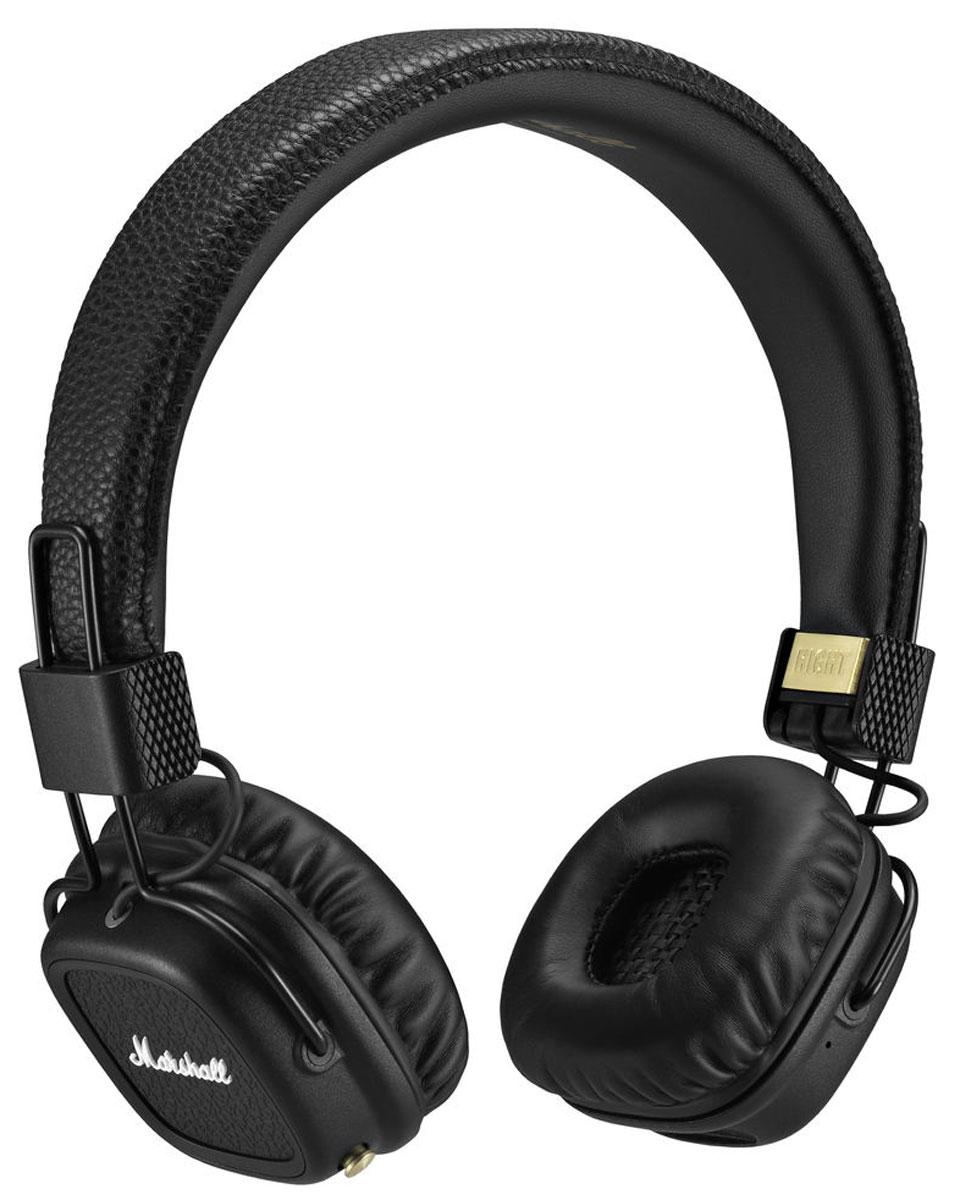 Marshall Major II Bluetooth, Black наушники7340055318631Major II Bluetooth соединяют в себе свободу и комфорт, которые предоставляют беспроводные наушники, с более чем 50-летним опытом компании Marshall в создании высококлассного аудиооборудования. Легко подключитесь к воспроизводящему устройству по современному протоколу Bluetooth aptX и слушайте музыку в течение длительного времени (более 30 часов) без подзарядки. С этой версией Bluetooth вы не только можете прослушивать свои любимые композиции в CD-качестве, но и смотреть фильмы без проблем синхронизации аудио / видео. Возможно и альтернативное подключение к источнику звука – по комплектному проводу. Двусторонний кабель с обмоткой, оснащённый микрофоном и пультом управления, является полностью съёмным, он позволяет подключаться к гаджетам, имеющим выход 3,5 мм. Когда применяется беспроводное подключение, свободный разъём можно использовать, чтобы поделиться музыкой с другом. С помощью кнопки на чашке наушников вы можете управлять воспроизведением, ставить на...