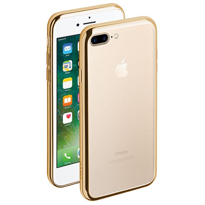 Deppa Gel Plus Case чехол для Apple iPhone 7 Plus, Gold85261Чехол Deppa Gel Plus Case для Apple iPhone 7 Plus предназначен для защиты корпуса смартфона от механических повреждений и царапин в процессе эксплуатации. Плотный высокотехнологичный TPU (силикон) производства Bayer в разы повышает защитные функции чехла. Кейс эластичен, устойчив к изломам, не запотевает и не желтеет даже при длительной эксплуатации. Кейс надежно защищает iPhone со всех сторон и имеет все необходимые, тщательно выверенные отверстия для доступа к функциональным портам, разъемам и кнопкам смартфона. Вы можете легко зарядить устройство, не снимая чехол. Специально разработанный кейс для iPhone выполнен с применением особой технологии Electroplating: специальное гальванопокрытие и стильная рамка с эффектом металла придают особый шик вашему устройству.