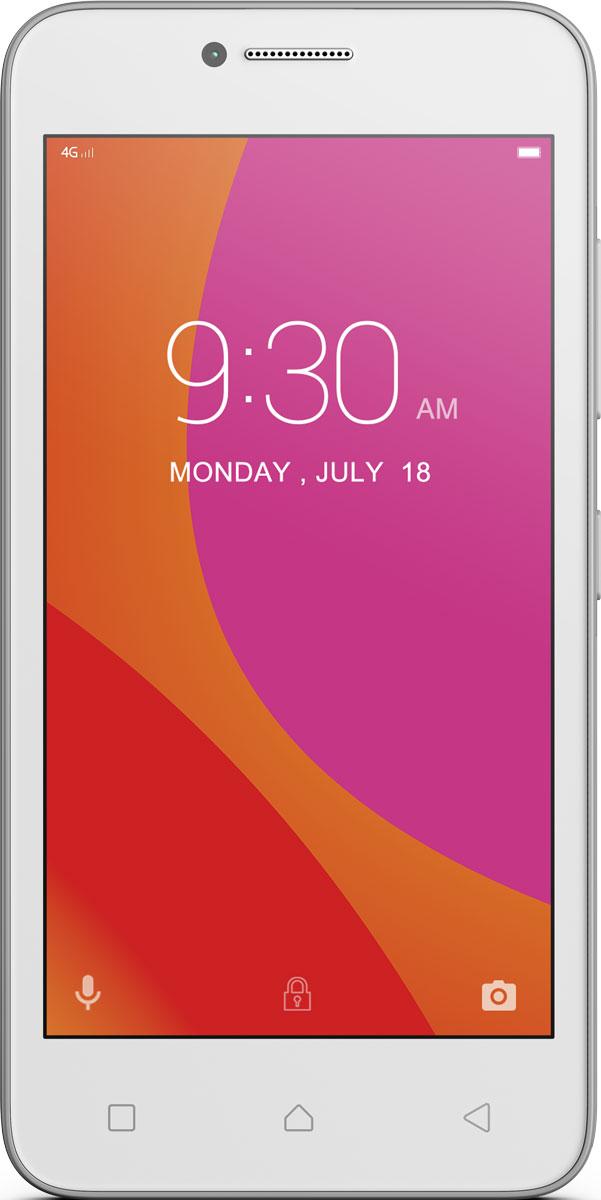 Lenovo B (A2016), WhitePA4R0084RUВпусти в свою жизнь Lenovo B - компактный, доступный и высокопроизводительный смартфон. Почувствуй мощность четырехъядерного процессора; путешествуй по сети, играй в любимые игры и смотри потоковое видео на скорости 4G. Этому смартфону под силу любые задачи.Благодаря весу всего 144 грамма, скругленным углам корпуса и текстурированной задней панели это устройство приятно держать в руке, и оно отлично поместится в карман. Компактный смартфон оборудован 4,5-дюймовым сенсорным экраном, на котором удобно пролистывать страницы в дороге, а также играть и смотреть фильмы.Уровень производительности имеет значение, даже если ты просматриваешь веб-страницы или делишься фото с друзьями. Благодаря высокоскоростному 64-разрядному четырехъядерному процессору с частотой 1,0 ГГц Lenovo B обеспечивает оптимальное сочетание производительности и мощности, даже в условиях одновременной работы сразу с несколькими приложениями.Обнови статус в социальных сетях быстрее, чем успеешь произнести слово друзья. Смартфон Lenovo B поддерживает высокоскоростные сети передачи данных LTE (4G). Ты сможешь в полной мере насладиться просмотром веб-страниц и потокового видео, играми и онлайн-чатами.Новая версия Android отличается возможностями, которые упростят твою жизнь. Установи кнопки быстрого доступа к важной информации внутри приложений. Также тебя порадуют и изменения, которые позволяют сэкономить заряд аккумулятора для самых важных задач.Lenovo B превосходно впишется в твою динамичную и насыщенную событиями жизнь. Литий-ионный аккумулятор 2000 мАч обеспечивает до 11,3 часа работы в режиме разговора и до 7,3 дня в режиме активного ожидания при подключении к сети 4G, а это значит, что ты сможешь пользоваться смартфоном без подзарядки больше суток. А если аккумулятор все-таки сядет, ты сможешь просто заменить его на запасной с полным зарядом и продолжить заниматься своими делами.Один смартфон, два телефонных номера. Хочешь сэкономить на тарифах за мобильную связь, об