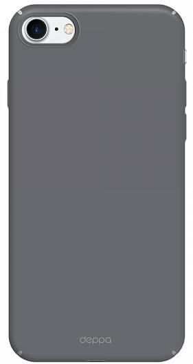 Deppa Air Case чехол для Apple iPhone 7, Graphite83269Чехол Deppa Air Case для Apple iPhone 7 - случай редкого сочетания яркости и чувства меры. Это стильная и элегантная деталь вашего образа, которая всегда обращает на себя внимание среди множества вещей. Благодаря покрытию soft touch чехол невероятно приятен на ощупь, поэтому смартфон не хочется выпускать из рук. Ультратонкий чехол (толщиной 1 мм) повторяет контуры самого девайса, при этом готов принимать на себя удары - последствия непрерывного ритма городской жизни.