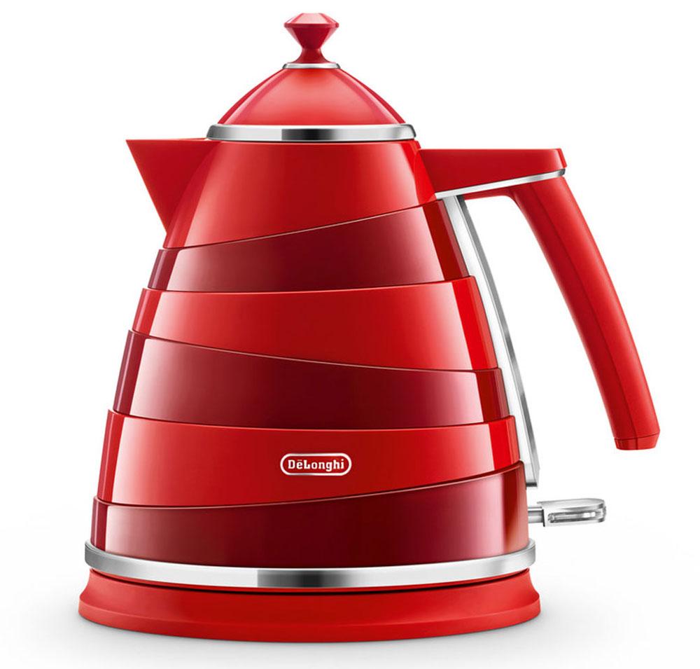 DeLonghi KBA 2001, Red электрочайникKBA 2001Электрочайник DeLonghi KBA 2001 из дизайнерской коллекции Avoolta выполнен в очень интересном стиле. Его ассиметричные линии, сочетание пластика с хромированными деталями сделают этот чайник изюминкой любого интерьера кухни или офиса.Вам удобнее держать чайник в правой или левой руке? Это неважно, если у вас есть DeLonghi KBA 2001, ведь он оснащен подставкой, на которой его можно повернуть в любую удобную для вас сторону на 360 градусов. Контролируйте количество жидкости в чайнике с помощью индикатора уровня воды. Благодаря съемному фильтру, вы каждый день сможете наслаждаться чистым вкусом любимого чая без всяких примесей.Хотите, чтобы ваш чайник прослужил вам как можно дольше? С трехуровневой системой безопасности, которой оснащен KBA 2001, устройство будет радовать вас своей работой длительное время. Суть защиты заключается в автоотключении чайника в трёх случаях - при поднятии устройства с подставки, при закипании воды и при её отсутствии.