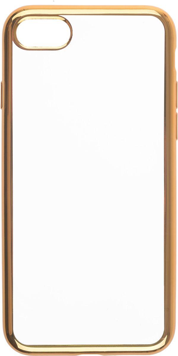 Skinbox 4People Silicone Chrome Border чехол-накладка для Apple iPhone 7, Gold2000000112848Чехол-накладка Skinbox 4People Silicone Chrome Border для Apple iPhone 7 обеспечивает надежную защиту корпуса смартфона от механических повреждений и надолго сохраняет его привлекательный внешний вид. Накладка выполнена из высококачественного силикона, плотно прилегает и не скользит в руках. Чехол также обеспечивает свободный доступ ко всем разъемам и клавишам устройства.