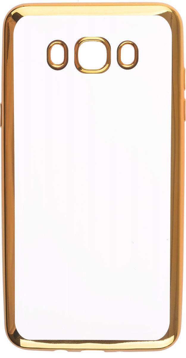 Skinbox 4People Silicone Chrome Border чехол-накладка для Samsung Galaxy J7 (2016), Gold2000000105703Чехол-накладка Skinbox 4People Silicone Chrome Border для Samsung Galaxy J7 (2016) обеспечивает надежную защиту корпуса смартфона от механических повреждений и надолго сохраняет его привлекательный внешний вид. Накладка выполнена из высококачественного силикона, плотно прилегает и не скользит в руках. Чехол также обеспечивает свободный доступ ко всем разъемам и клавишам устройства.