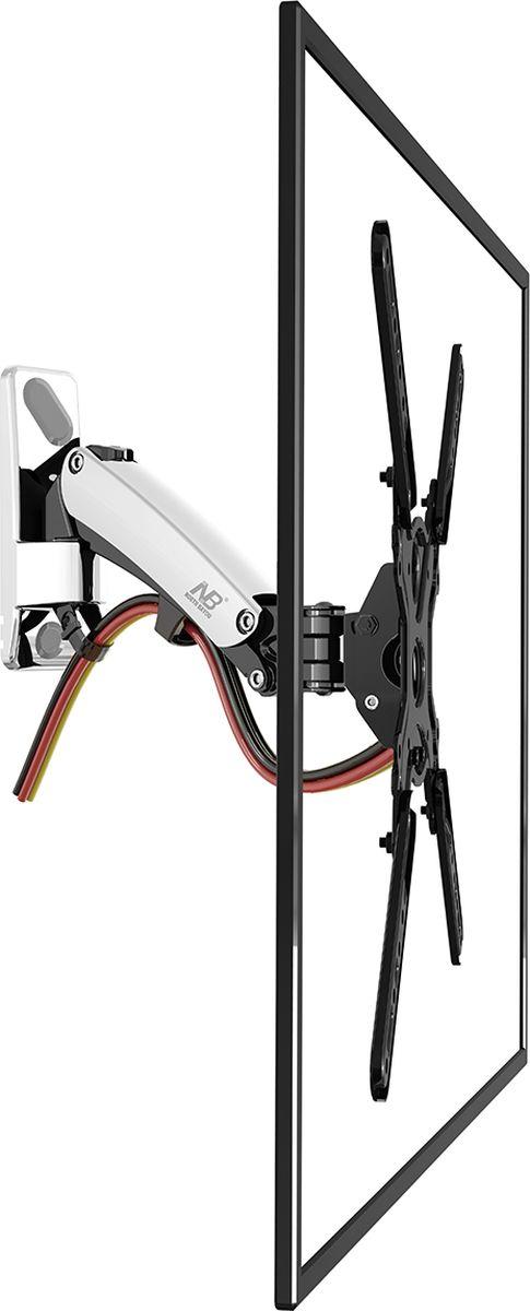 North Bayou NB F400, Chrome кронштейнхромированныйНастенный наклонно-поворотный кронштейн с регулировкой по высоте North Bayou NB F400 подходит для телевизоров с диагональю 50-60 и с весом от 14 до 23 кг. Благодаря встроенной газовой пружине вы можете с лёгкостью перемещать телевизор не только влево и вправо, но и вверх, и вниз, при этом не прилагая усилий и не производя дополнительной фиксации. Именно технологии надёжных осевых соединений с газовой пружиной позволят вам отрегулировать положение телевизора для самого комфортного просмотра. Встроенный кабель-канал позволяет расположить провода внутри кронштейна, что придает эстетический вид всей конструкции.