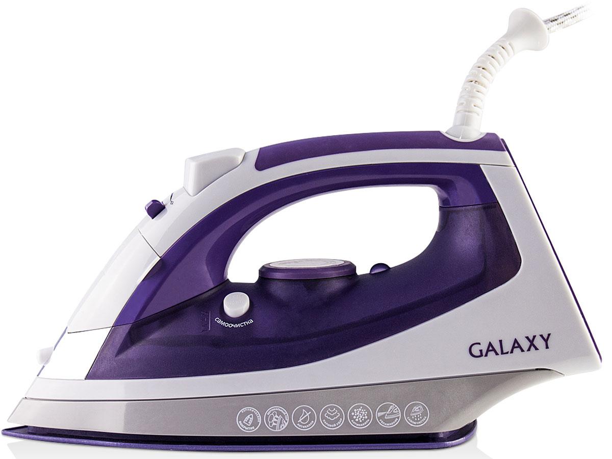 Galaxy GL 6111 утюг4630003365095Современный утюг Galaxy GL 6111 облегчает уход за одеждой и безусловно порадует вас своими поистине безграничными возможностями. Ультрагладкая подошва утюга GL 6111 с керамическим покрытием обеспечивает идеальное скольжение и избавит ваши вещи даже от самых сложных складок.Прибор обладает всеми необходимыми характеристиками для отличного результата: сухое глажение, отпаривание с регулировкой, функция разбрызгивания, возможность вертикального отпаривания. Модель оснащена функциями парового удара и самоочистки, а также системами антикапля и антинакипь. Сетевой шнур длиной 2 метра крепится при помощи шарового механизма, что не позволяет ему запутаться во время эксплуатации.Силиконовый уплотнитель крышки резервуараИндикатор нагрева