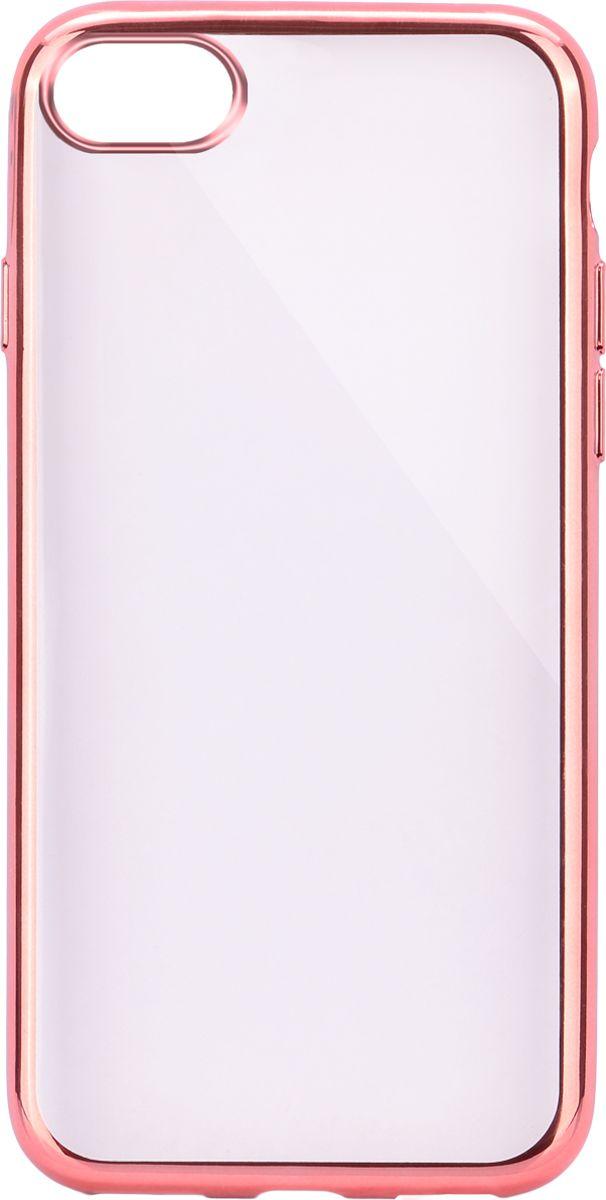 Interstep Frame чехол для Apple iPhone 7, PinkHFR-APIPH07K-NP1105P-K100Стильный ультратонкий чехол Interstep Frame для Apple iPhone 7 обеспечивает надежную защиту корпуса смартфона от механических повреждений и надолго сохраняет его привлекательный внешний вид. Элегантное гальванопокрытие не подвержено стиранию, модная цветовая гамма рамки сочетается с цветами смартфонов Apple, выгодно подчеркивая их. Чехол также обеспечивает свободный доступ ко всем разъемам и клавишам устройства.