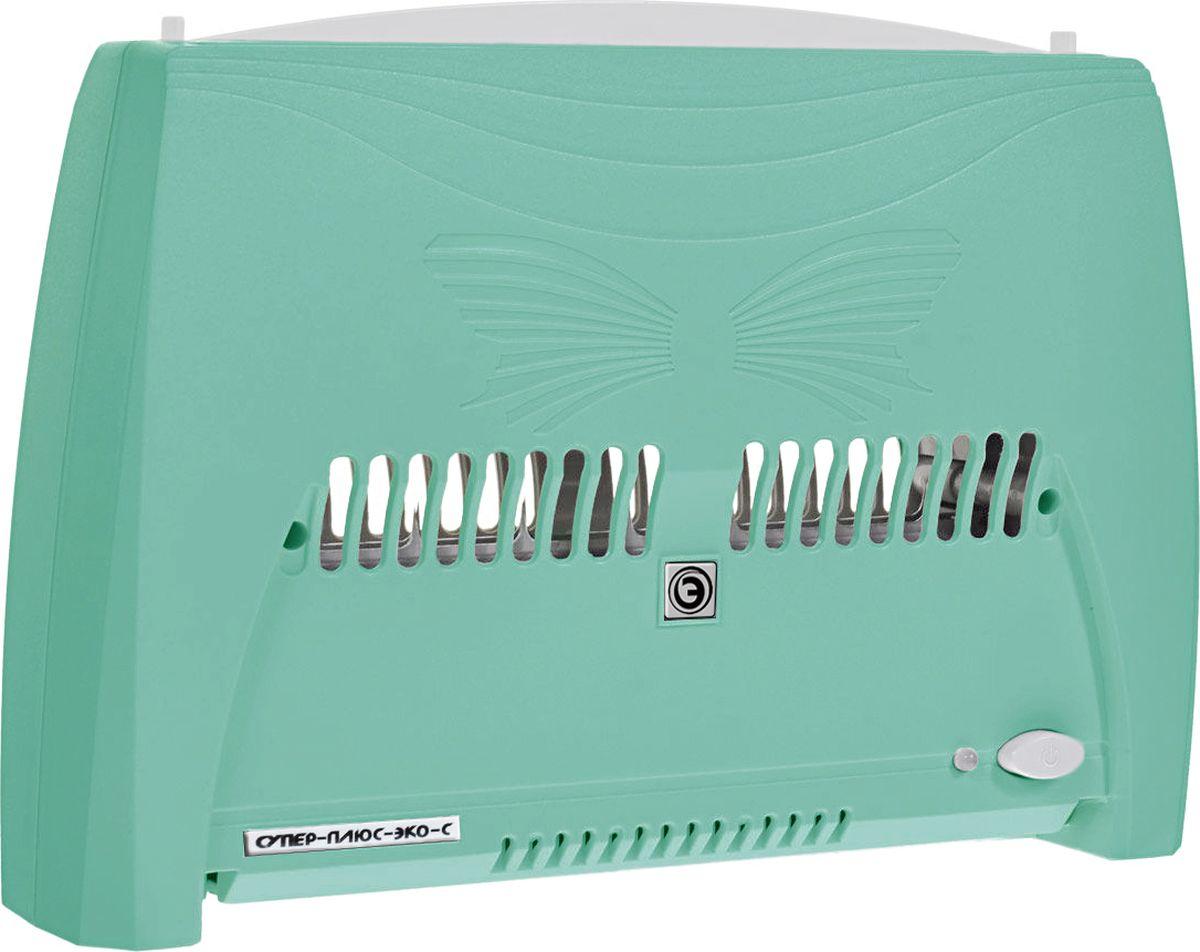 """Супер Плюс ЭкоС 2008 очиститель воздуха, цвет зеленыйСупер Плюс ЭкоС - 2008 зеленыйВоздухоочиститель Супер Плюс ЭкоС (Модель 2008) является усовершенствованной моделью воздухоочистителя """"Супер Плюс Эко"""". В кассете прибора расположена дополнительная осадительная пластина, что позволило увеличить площадь осаждения мелкодисперстной пыли и других частиц в 2 раза, а также повысить коэффициент фильтрации на 20 %. Также в приборе введен дополнительный коронирующий электрод, что помогло увеличить скорость воздушного потока, а следовательно увеличило объем прокачиваемого воздуха. Новый блок управления имеет 3 режима работы, которые отличаются друг от друга разными временными интервалами между работой и """"отдыхом"""" прибора, что позволяет наиболее эффективно использовать воздухоочиститель в помещениях разного объема. Также данный блок управления имеет электронную систему контроля загрязненности кассеты, которая информирует о необходимости чистки воздухоочистителя. Работа прибора основана на принципе «ионного ветра», который возникает в..."""