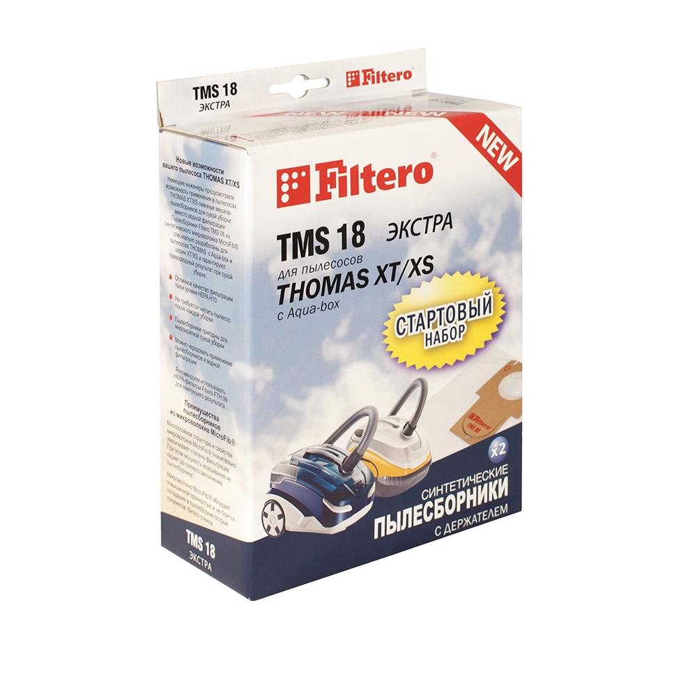 Filtero TMS 18 Экстра комплект пылесборников для Thomas XT/XS, 2 штTMS 18 (2+1) ЭкстраМешки-пылесборники Filtero TMS 18 Экстра СТАРТОВЫЙ НАБОР 2 штуки с держателем. Пылесборники Filtero ЭКСТРА произведены из синтетического микроволокна MicroFib. Очень прочные, они не боятся острых предметов и влаги, собирают больше пыли (до 50%) и обеспечивают уровень очистки воздуха 99,9%, что значительно выше, чем у бумажных пылесборников. При этом мощность всасывания пылесоса сохраняется в течение всего периода службы пылесборника. Стартовый набор TMS 18 включает в себя два сменных пылесборника Filtero TMS 08 и держатель Filtero. Сохраняя держатель Filtero из набора TMS 18 для его многократного использования в дальнейшем можно приобретать пылесборники Filtero TMS 08, без держателя. Совместимые модели: THOMAS: Allergy & Family, Aqua-box Compact, Cat & Dog XT, Lorelea XT, Mistral XS, Mokko XT, Multi clean X10 Parquet, Parkett Master XT, Parkett Prestige, XT, Parkett Style XT, Perfect Air Allergy Pure, Perfect Air Animal Pure, Perfect Air Feel Fresh,...
