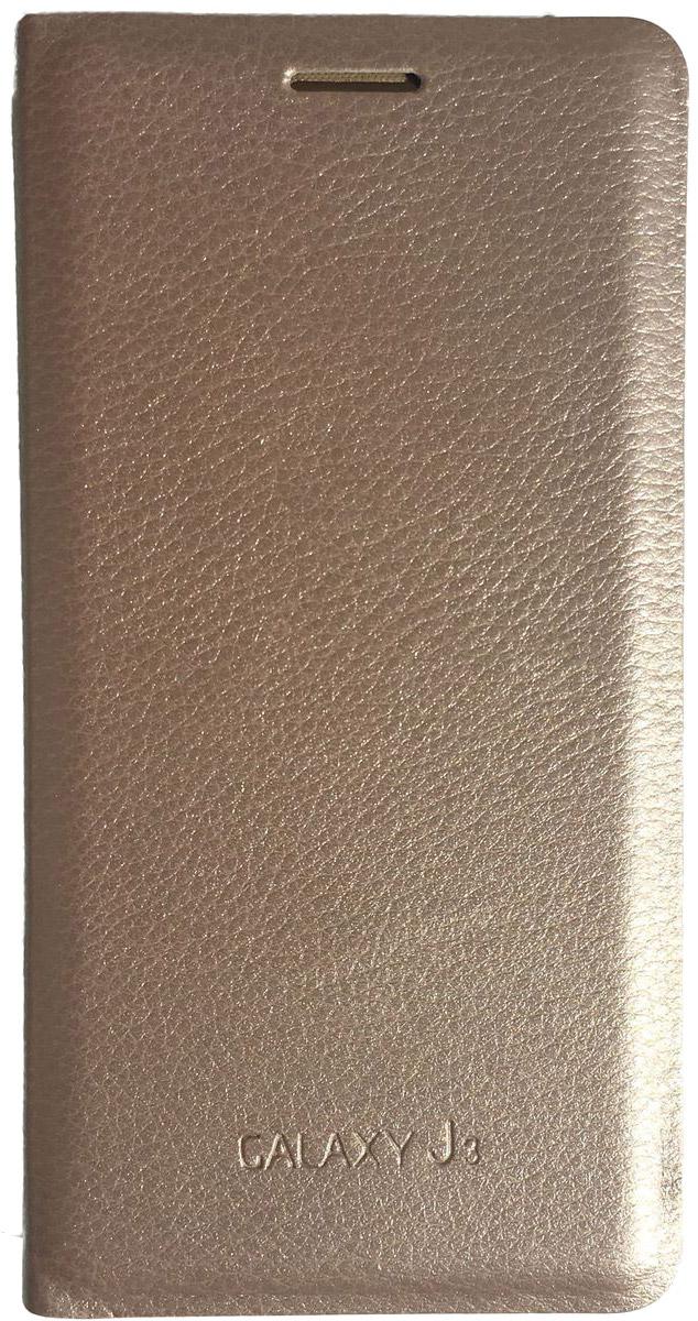 Acqua Wallet Extra чехол для Samsung Galaxy J3, Gold53931Чехол-книжка Acqua Wallet Extra для Samsung Galaxy J3 создан из высококачественных материалов. На внутренней стороне чехла имеется карман для пластиковых карт. Чехол надежно защитит ваш телефон от царапин, сколов и незначительных механических повреждений. Он также обеспечивает свободный доступ ко всем функциональным кнопкам смартфона и камере.