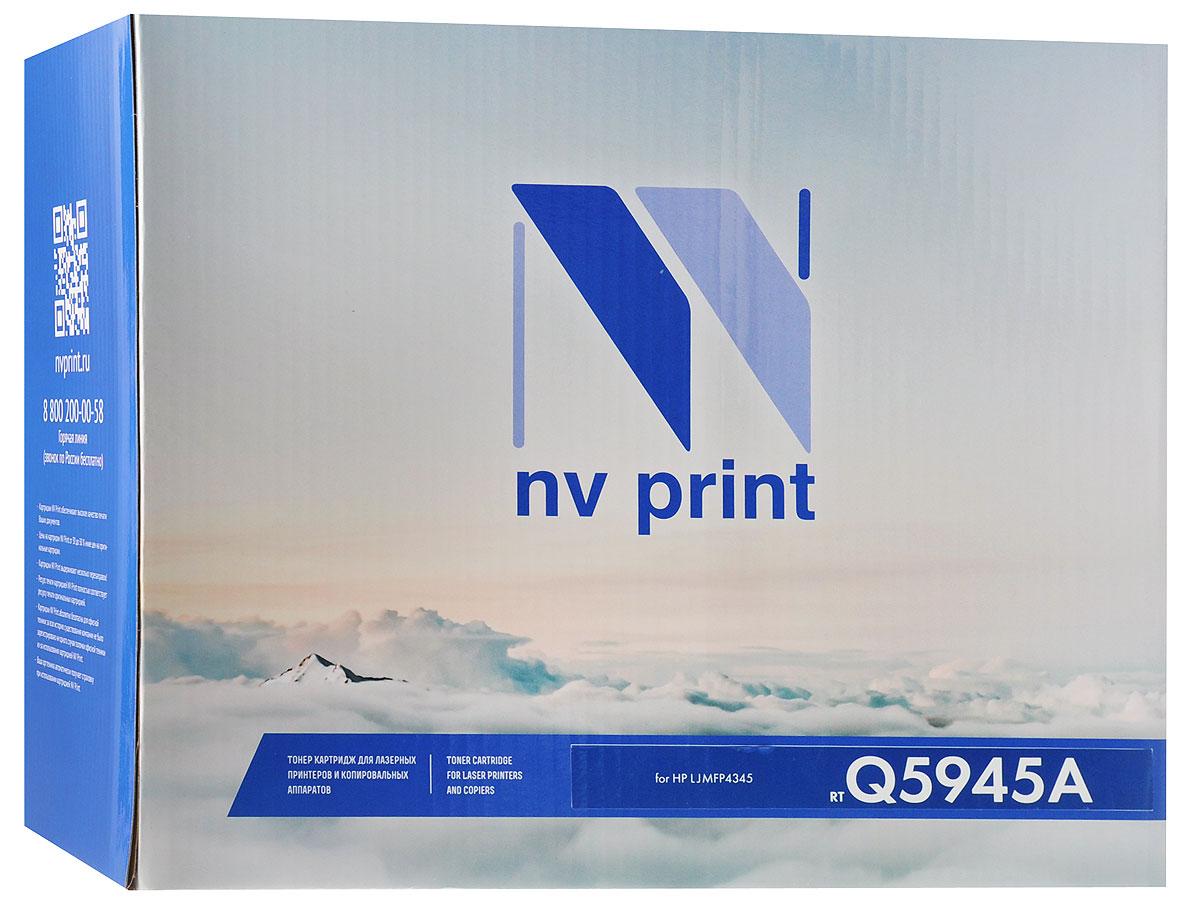 NV Print Q5945A, Black тонер-картридж для HP LaserJet MFP4345Q5945AСовместимый лазерный картридж NV Print Q5945A для печатающих устройств HP - это альтернатива приобретению оригинальных расходных материалов. При этом качество печати остается высоким. Лазерные принтеры, копировальные аппараты и МФУ являются более выгодными в печати, чем струйные устройства, так как лазерных картриджей хватает на значительно большее количество отпечатков, чем обычных. Для печати в данном случае используются не чернила, а тонер.
