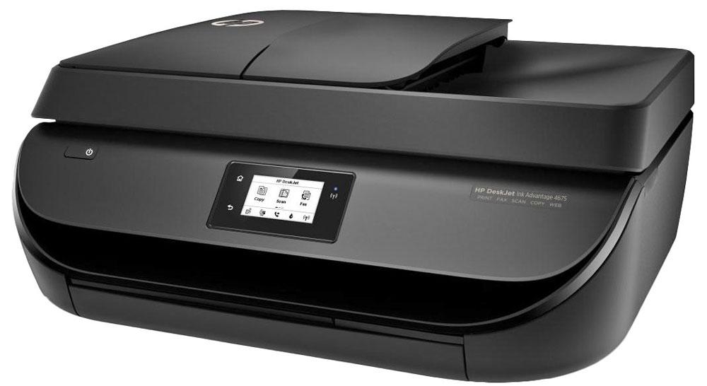 HP Deskjet Ink Advantage 4675 (F1H97C) МФУF1H97CВысокая производительность без лишних затрат: HP Deskjet Ink Advantage 4675 позволяет отправлять документы на печать прямо со смартфона или планшета. Это МФУ с функциями факса, АПД и модулем беспроводной связи поможет вам быстрее справляться с заданиями и сократить расходы, используя недорогие струйные картриджи HP.Работайте так, как вам удобно. Благодаря возможностям беспроводной связи вы легко можете печатать документы практически с любого смартфона или планшета. Возможности простой настройки со смартфона, планшета или ПК позволяют быстро приступить к печати. Автоматический выходной лоток позволяет выполнять печать даже в удаленном режиме.Выполняйте высококачественную печать любых фотографий и документов благодаря недорогим струйным картриджам HP. Удобный сенсорный дисплей с диагональю 5,5 см (2,2) обеспечивает дополнительный комфорт в выполнении заданий.Устройство автоматической подачи документов на 35 листов позволяет экономить время и легко справляться с объемными заданиями. Автоматическая двусторонняя печать позволит экономить бумагу.Создавайте профессиональные фотографии без полей и документы, не уступающие по качеству лазерной печати. Теперь вы сможете добиться таких результатов, даже не выходя из дома.Бесплатное приложение HP All-in-One Printer Remote позволяет с легкостью управлять заданиями печати и выполнять сканирование с помощью мобильных устройств.