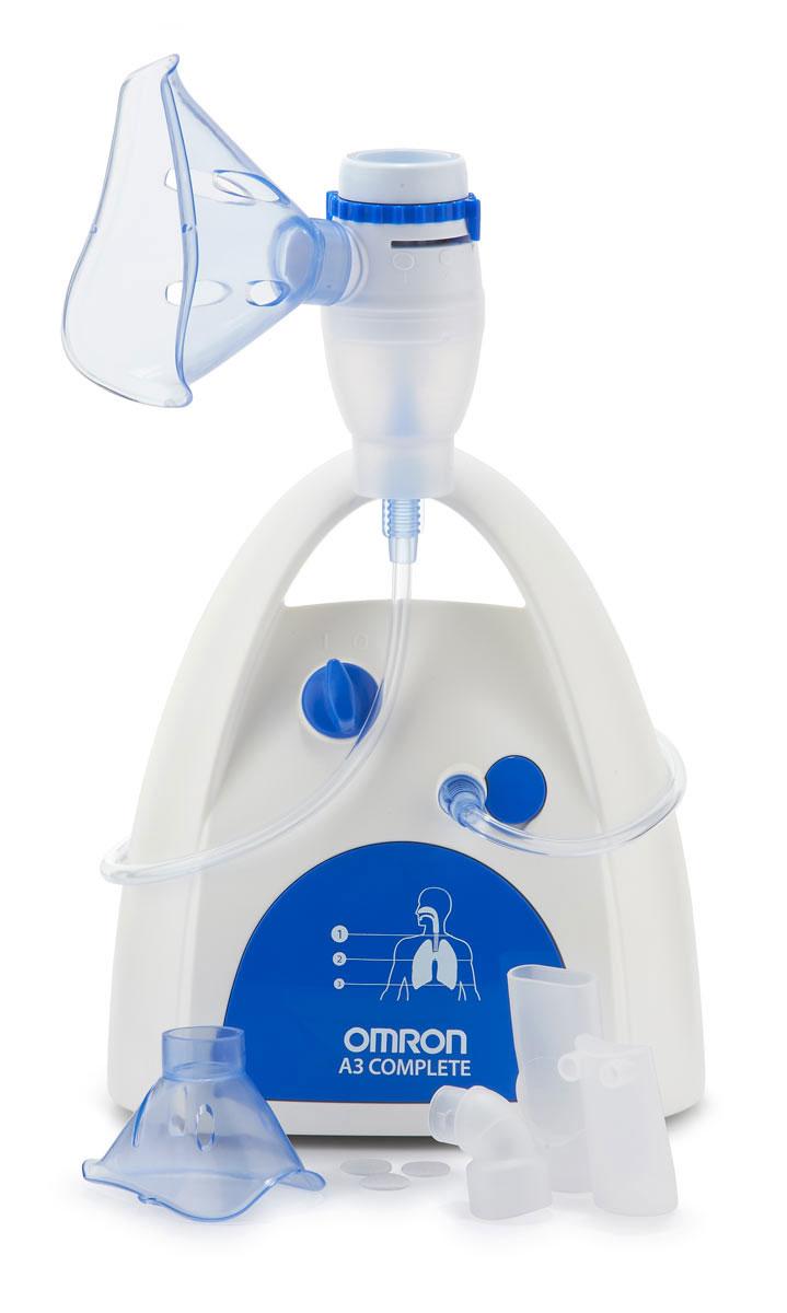 Ингалятор компрессорный Omron NE-C300 CompleteУТ0000017403 режима ингаляции: быстрый лечебный эффект от верхних до нижних дыхательных путей. Объем резервуара для лекарственных средств: 12 мл. Комплект поставки: Компрессор, небулайзерная камера, воздуховодная трубка (ПВХ, 100 см), загубник, насадка для носа, маска для взрослых (ПВХ), маска для детей (ПВХ), запасные воздушные фильтры (3 шт.), сумка для хранения, руководство по эксплуатации, гарантийный талон.