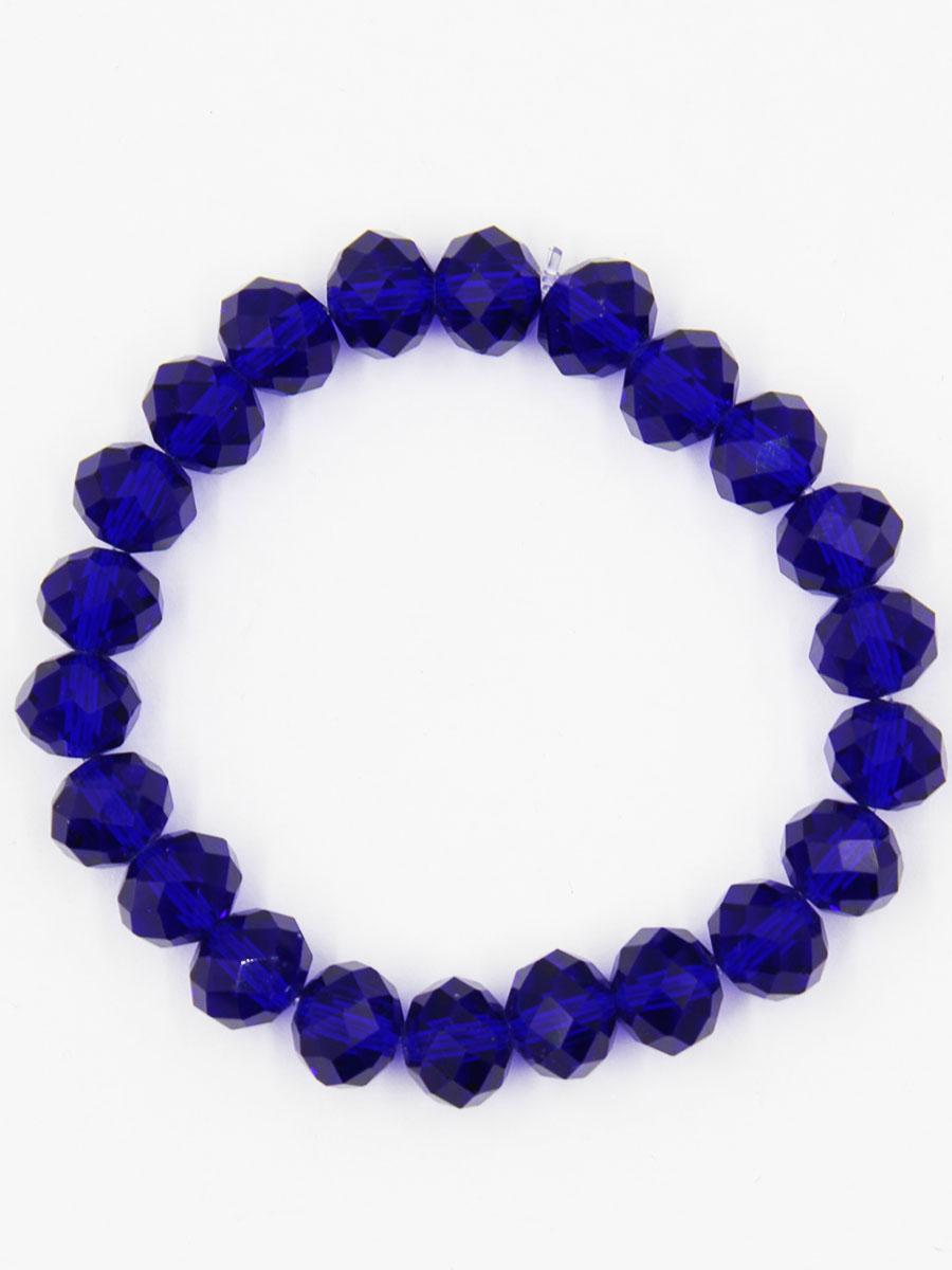 Браслет Taya, цвет: темно-синий. T-B-11790-BRAC-D.BLUET-B-11790-BRAC-D.BLUEУниверсальный однотонный браслет на резинке. Огранка кристаллов идеальная. они ярко искрятся под любым освещением. Такой браслет можно носить с фирменными часами TAYA, а также с другими такими же браслетами в цветовой гамме.