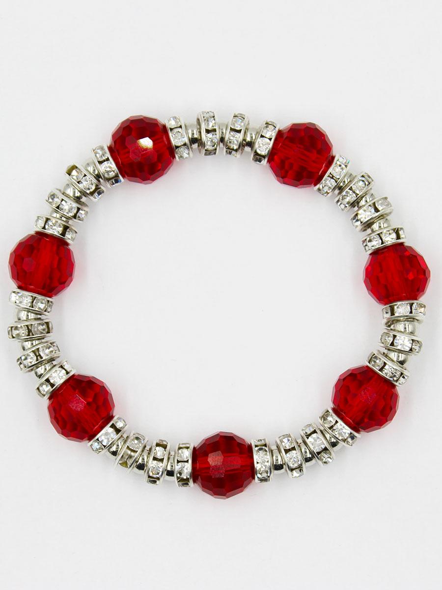 Браслет Taya, цвет: красный. T-B-11917-BRAC-REDT-B-11917-BRAC-REDУдобный универсальный браслет на резинке.