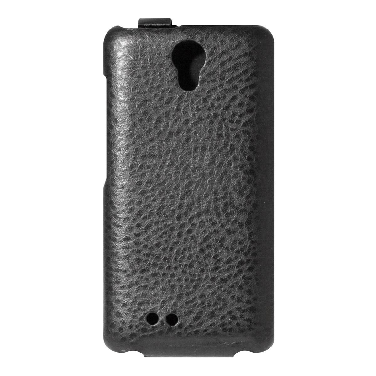 Highscreen чехол для Easy F/Pro, Black23439Чехол с откидной крышкой Highscreen для Easy F/Pro надежно защищает ваш смартфон от внешних воздействий, грязи, пыли, брызг. Он также поможет при ударах и падениях, не позволив образоваться на корпусе царапинам и потертостям. Чехол обеспечивает свободный доступ ко всем функциональным кнопкам смартфона и камере.
