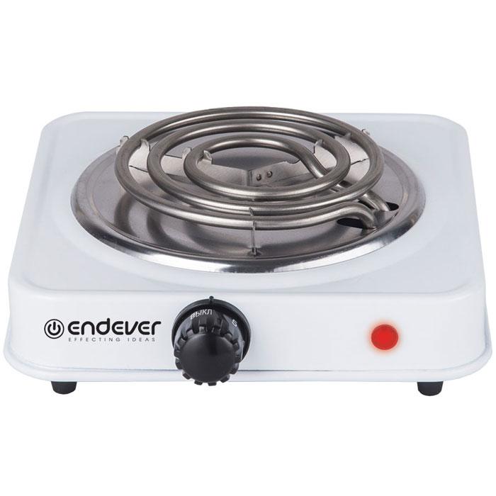 Endever Skyline EP-10, White плитка электрическаяEP-10WЭлектрическая плитка Endever Skyline EP-10 пригодится дома и на даче, в студенческом общежитии или на маленькой кухне. Плитка имеет надежное эмалевое покрытие, которое легко чистится, устойчиво к истиранию и долго сохраняет отличный внешний вид. О том, что нагревательный элемент подключен к сети, сигнализирует красный индикатор. Плитка имеет прорезиненные ножки для устойчивого положения на поверхности, весит всего 0.7 кг. Мощность ТЭНа составляет 1 кВт, ее можно регулировать при помощи поворотного переключателя-термостата. Длина шнура составляет 1,6 метра.