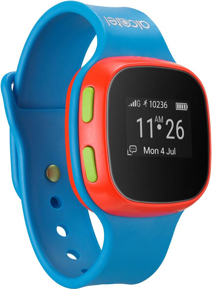 Alcatel SW10 MoveTime, Blue Red детские часы-телефон4894461383330Alcatel SW10 MoveTime - персональное наручное электронное устройство для для детей возраста от 5 до 9 лет. Данная модель выполнена в пластиковом жестком корпусе. Корпус защищен от пыли и водных струй по классу защиты IP65. Батарея обеспечивает их длительную работоспособность - до 4 дней. Отдельно выведенная кнопка SOS позволит совершить экстренный вызов. Alcatel SW10 MoveTime - помощник в родительском контроле. Родители могут звонить или отправлять голосовые сообщения своим детям. Дети могут совершать звонки на предустановленные SOS-контакты (до 10). Это позволит оградить ребенка от случайных и нежелательных входящих звонков. Общение ребенка через устройство можно ограничить пятью близкими людьми. Через специализированное приложение для смартфона, совместимое с iOS 7 и выше и Android 4.3 и выше, родители могут отслеживать местоположение своих детей и получать уведомления, когда дети приходят в школу или другую предустановленную безопасную зону....
