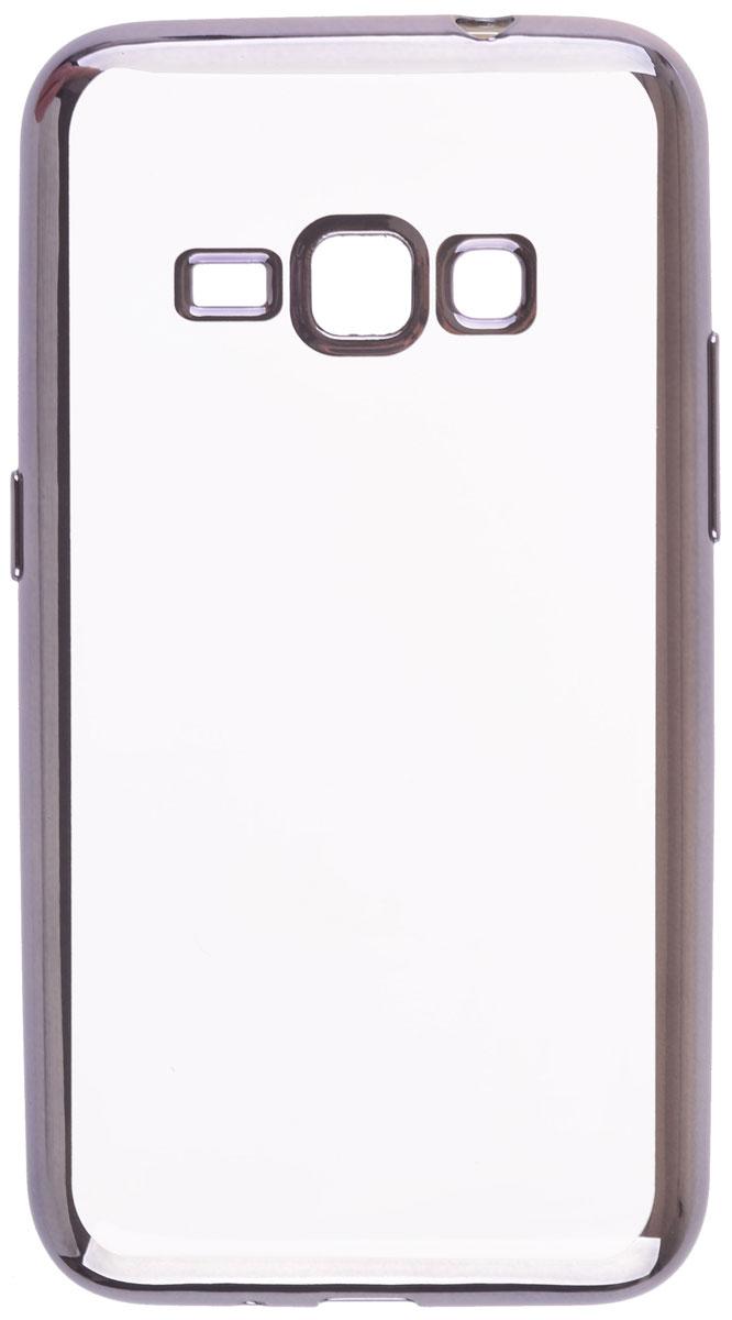 Skinbox 4People Silicone Chrome Border чехол-накладка для Samsung Galaxy J1 (2016), Dark Silver2000000105420Чехол Skinbox 4People Silicone Chrome Border надежно защищает ваш смартфон от внешних воздействий, грязи, пыли, брызг. Он также поможет при ударах и падениях, не позволив образоваться на корпусе царапинам и потертостям. Чехол обеспечивает свободный доступ ко всем функциональным кнопкам смартфона и камере.